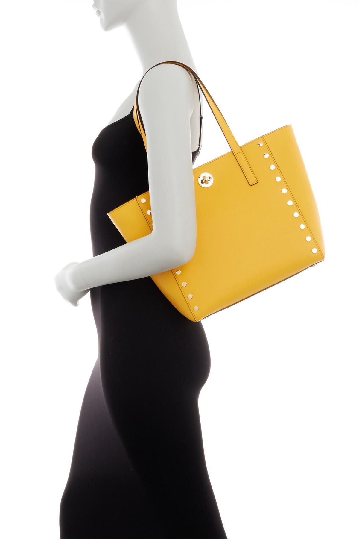 36b65e7e440a MICHAEL Michael Kors Rivington Studded Medium Leather Tote Bag in ...