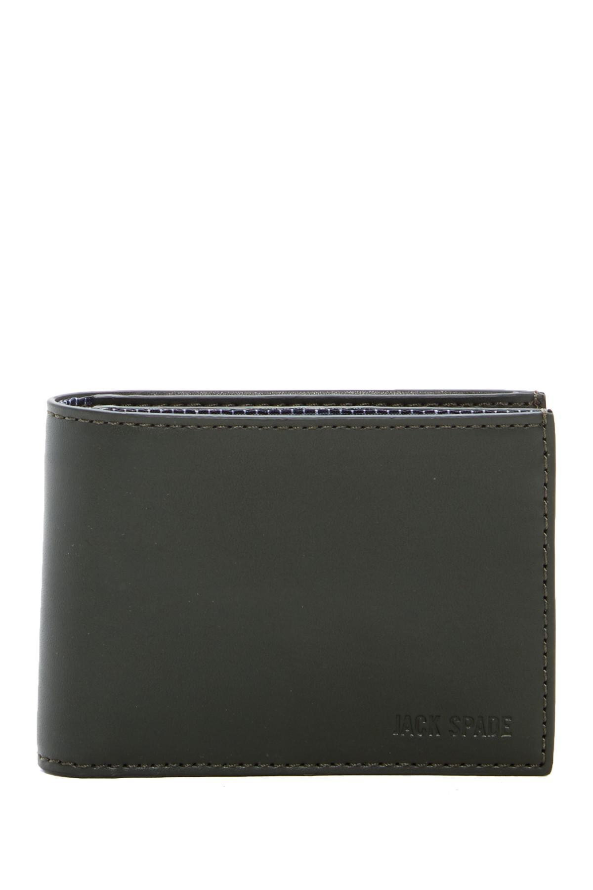 df7fad4aa608f Lyst - Jack Spade Leather Slim Billfold for Men