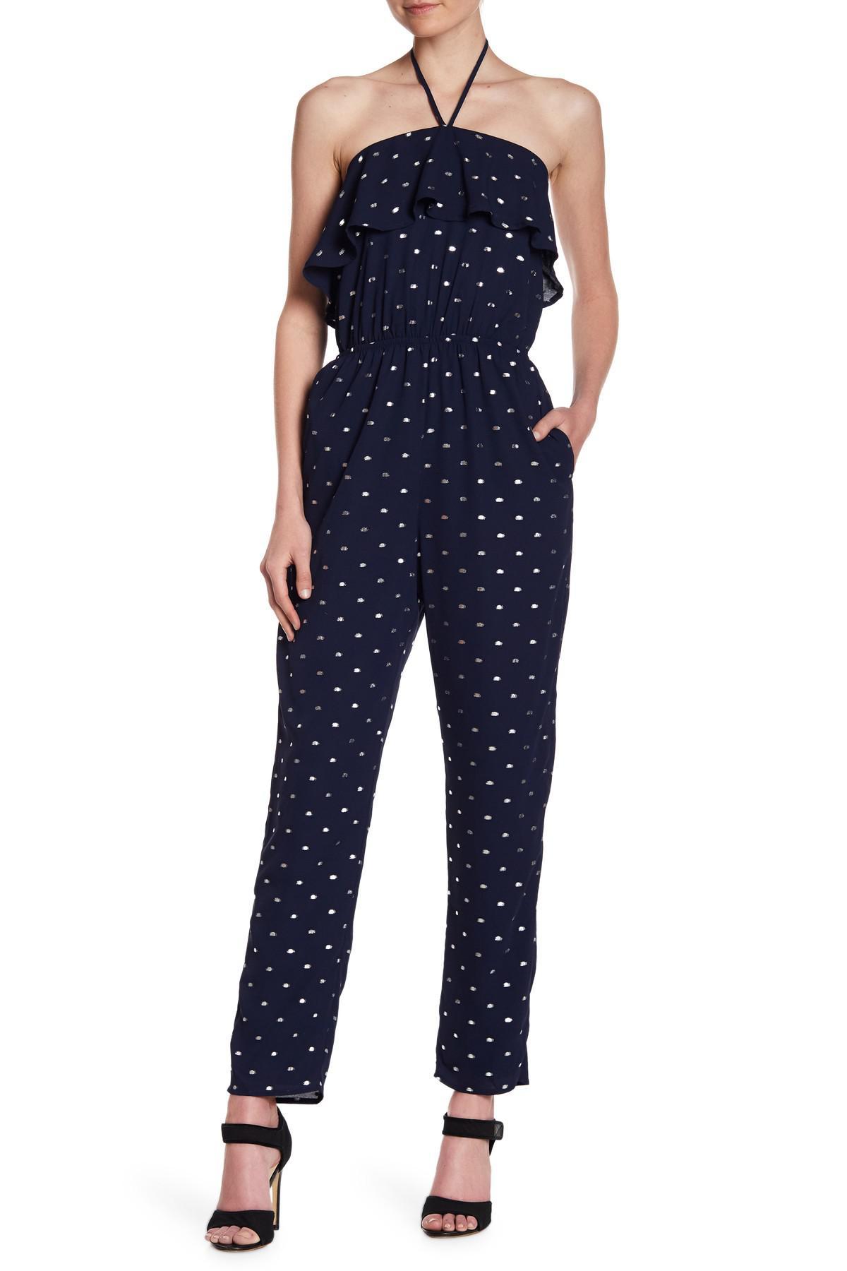 4e45a558919 Lyst - Sugarlips Maxine Ruffle Jumpsuit in Blue