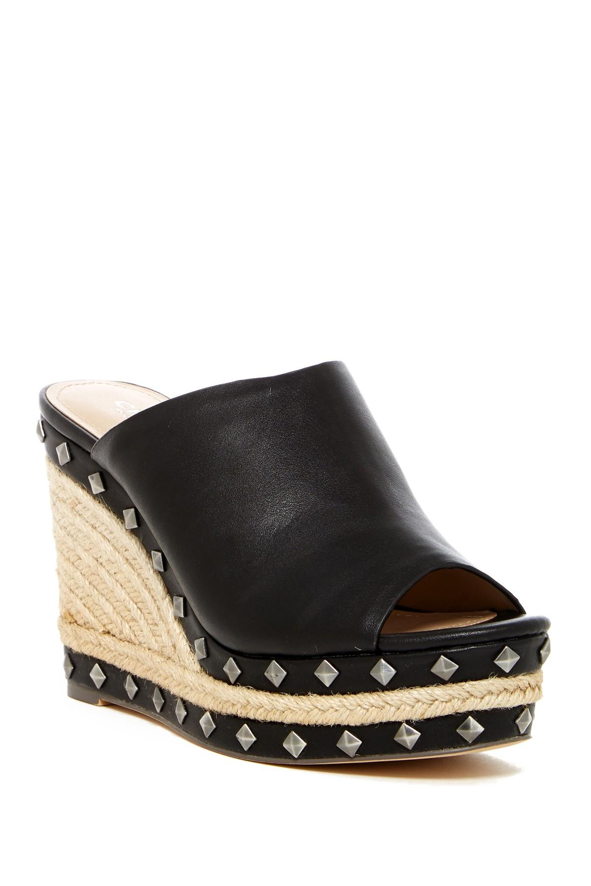 4525e68be55 Charles David - Black Lisbon Platform Wedge Sandal (women) - Lyst