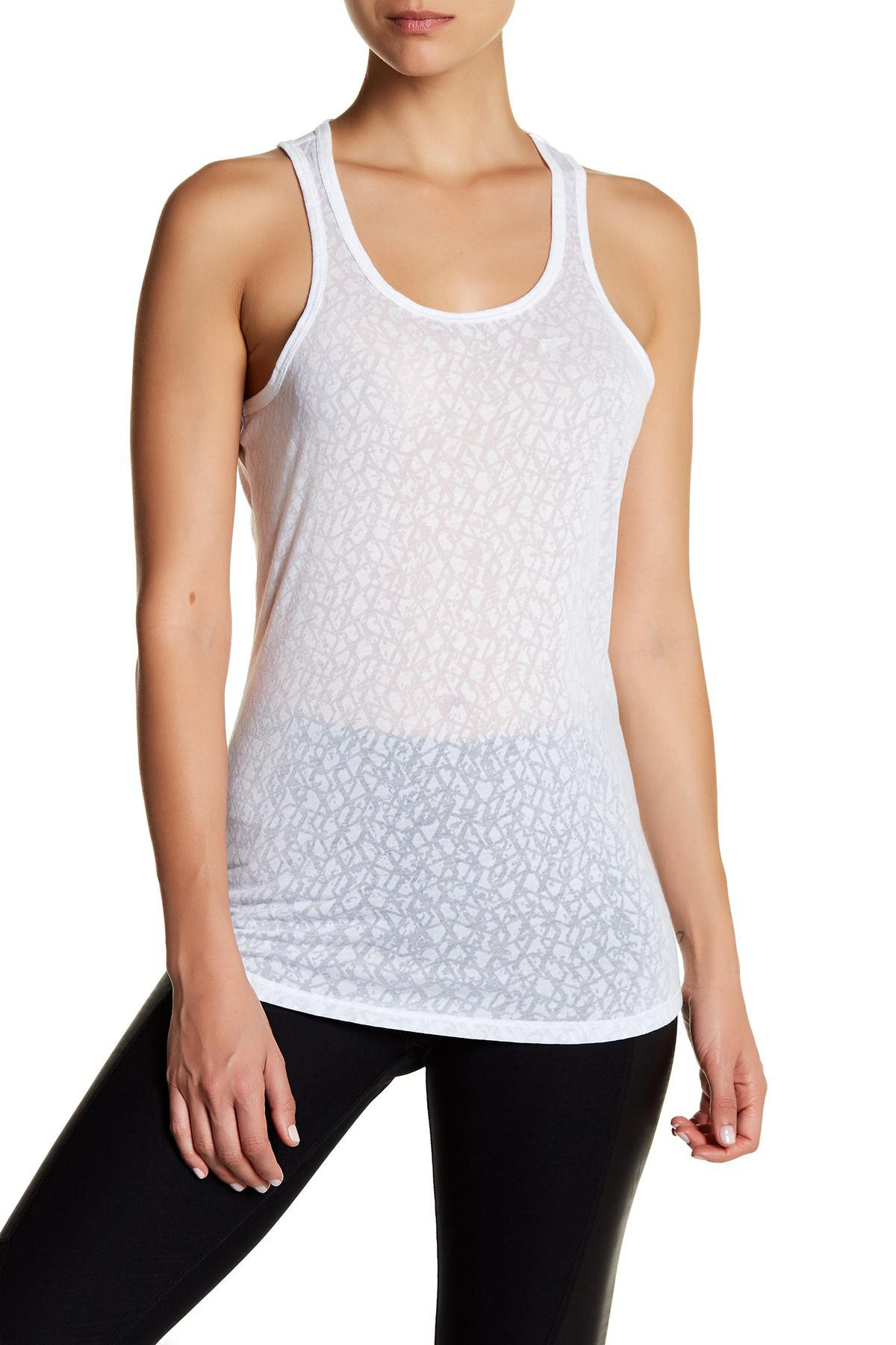 fdb6c1dc227b20 Lyst - Balance Collection Intrigue Singlet Tank in White