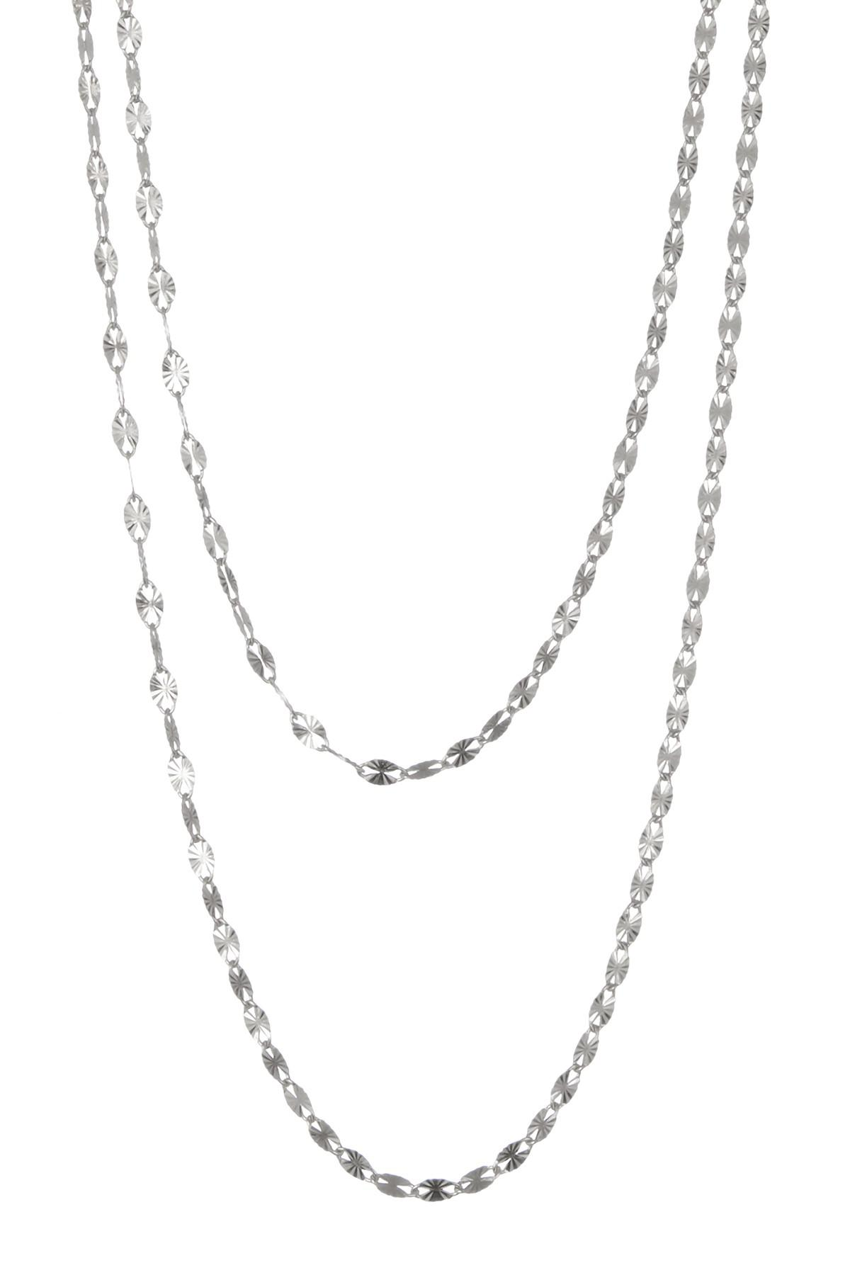 Lana Jewelry Flawless Illusion Disc Pendant Necklace in 14K White Gold 1xkqta