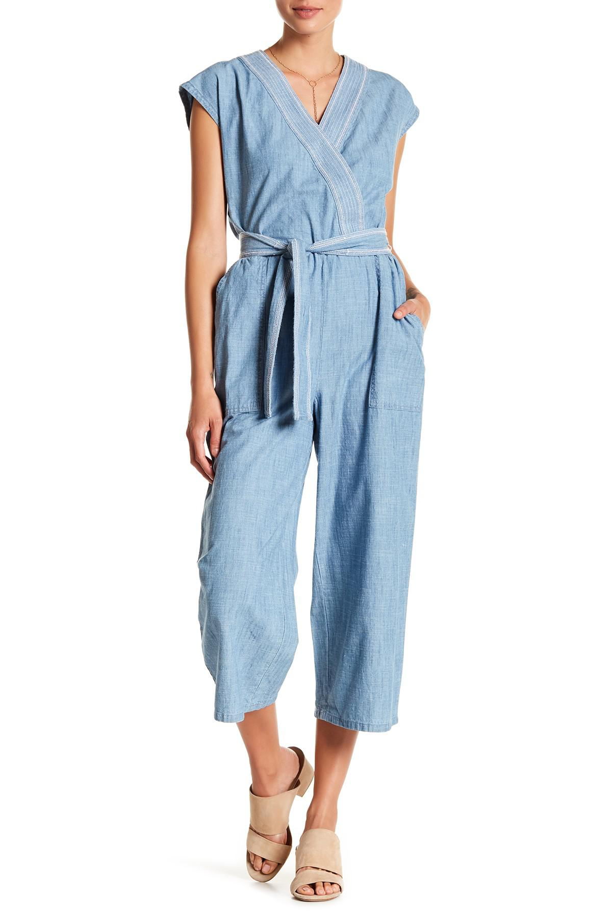 f71fb705768c Lyst - Vince Camuto Jumpsuit in Blue