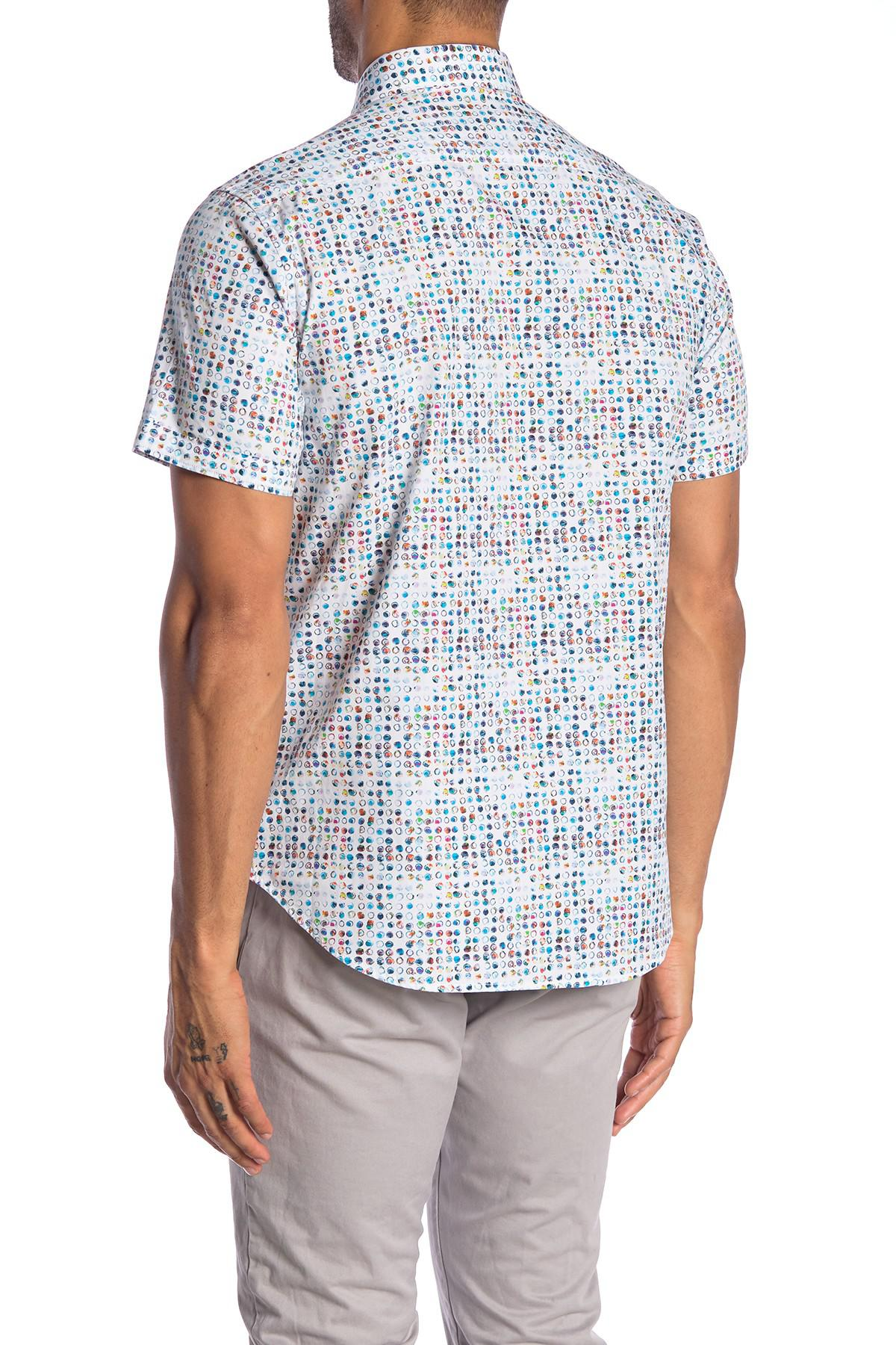 30d71654 Robert Graham - Blue Full Circle Patterned Short Sleeve Classic Fit Shirt  for Men - Lyst. View fullscreen