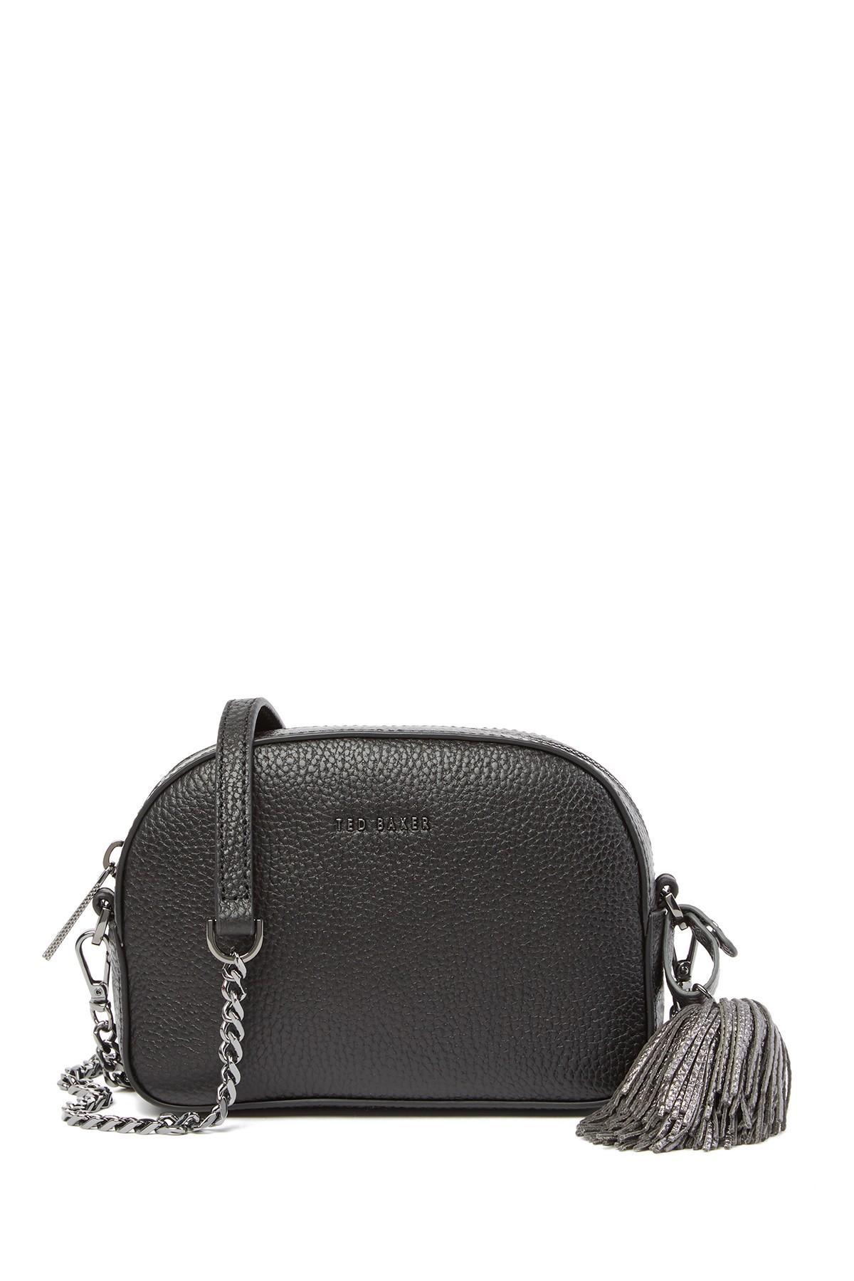 54e5c6cb9 Ted Baker - Black Madiiee Leather Pom Pom Belt Bag - Lyst. View fullscreen