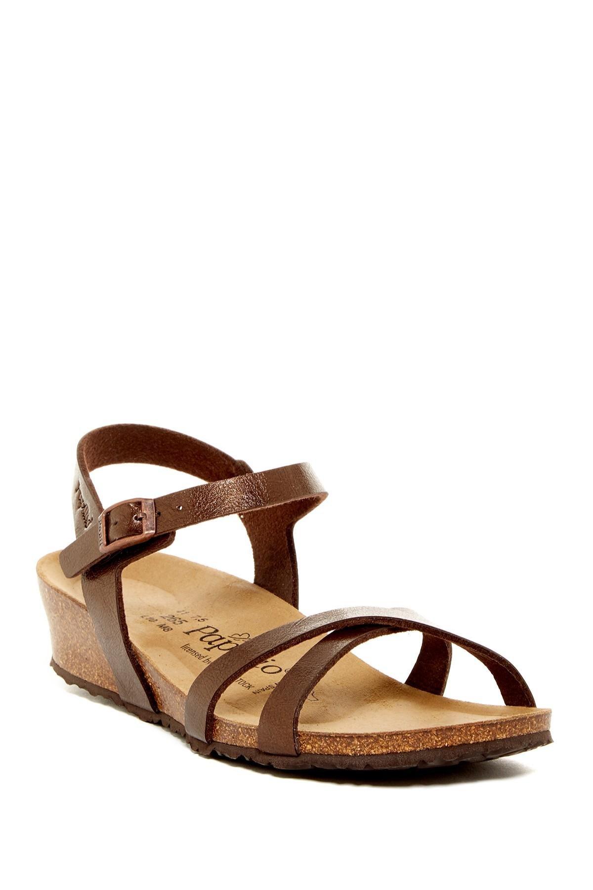 Lyst Birkenstock Alyssa Wedge Sandal Discontinued In Brown