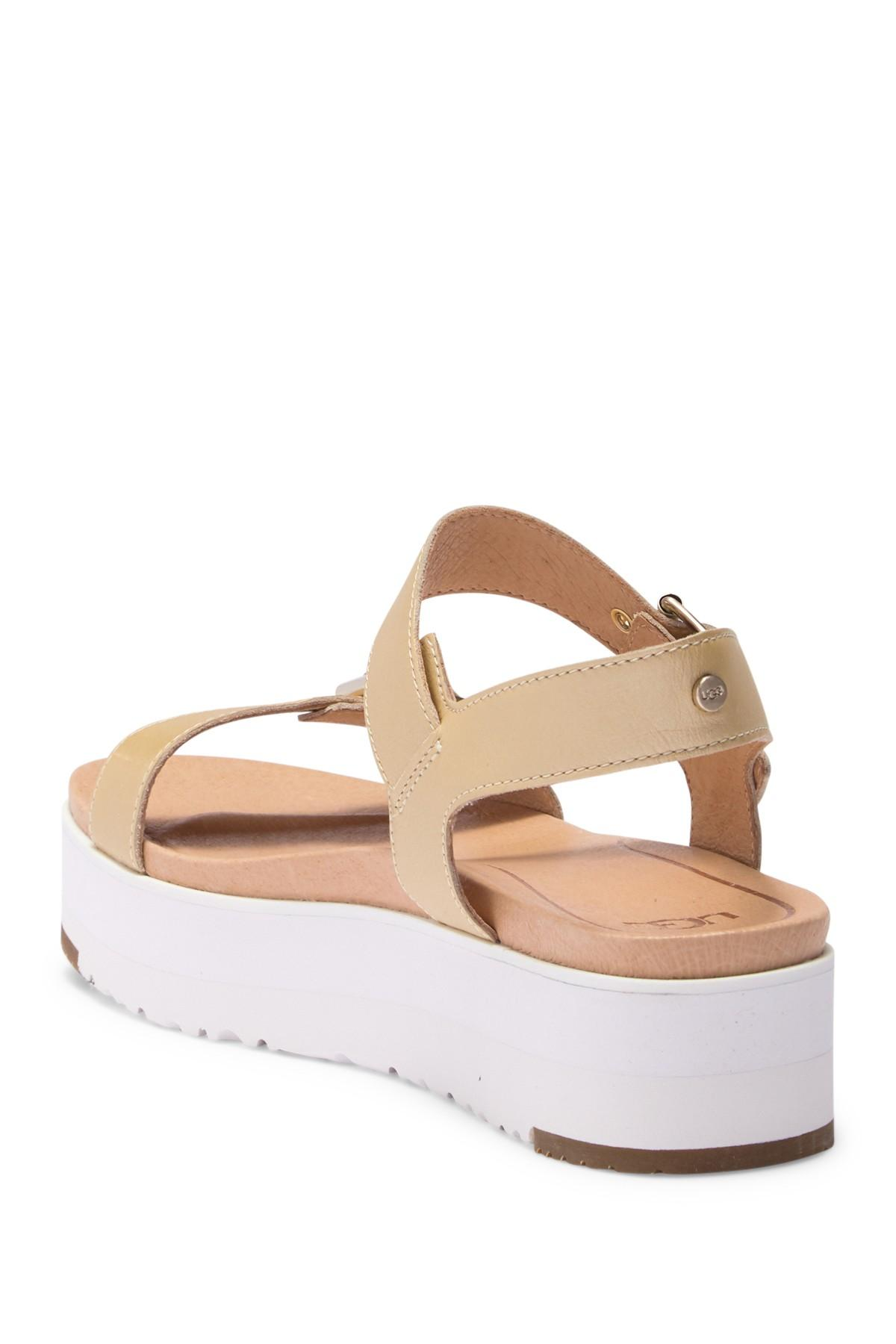 b06d036bc29 Women's Angie Metallic Leather Platform Sandal