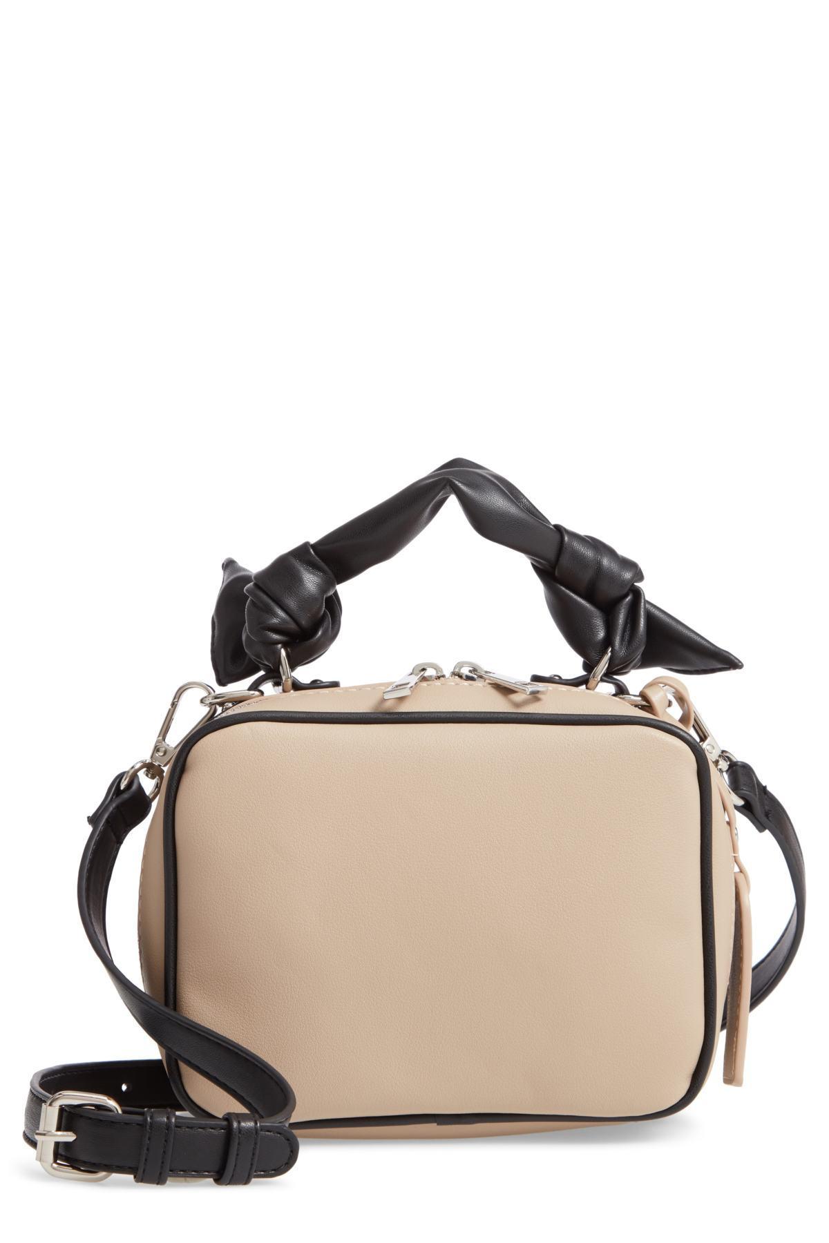 359e789fb7 Lyst - Sole Society Douga Faux Leather Crossbody Camera Bag in Black