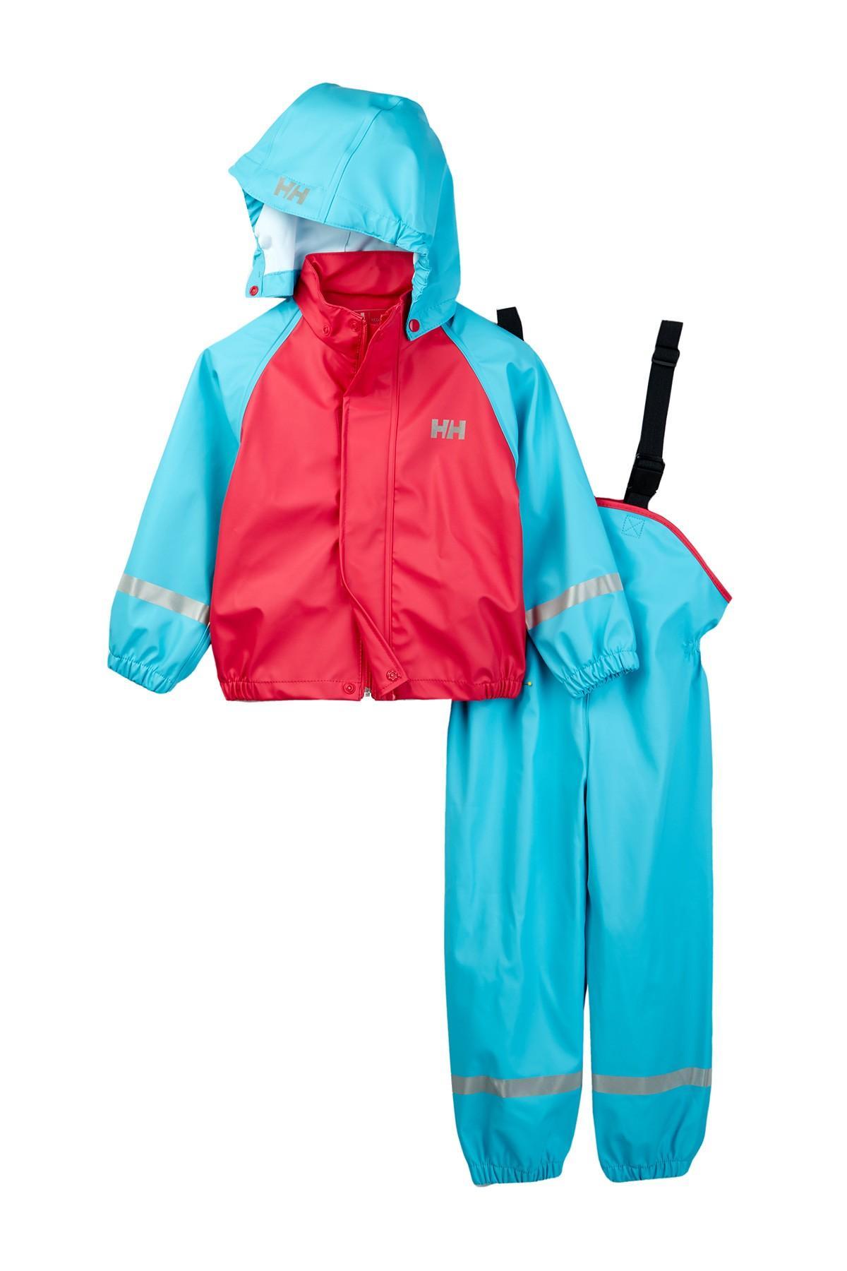 helly hansen voss rainset jacket overall set toddler girls in blue lyst. Black Bedroom Furniture Sets. Home Design Ideas