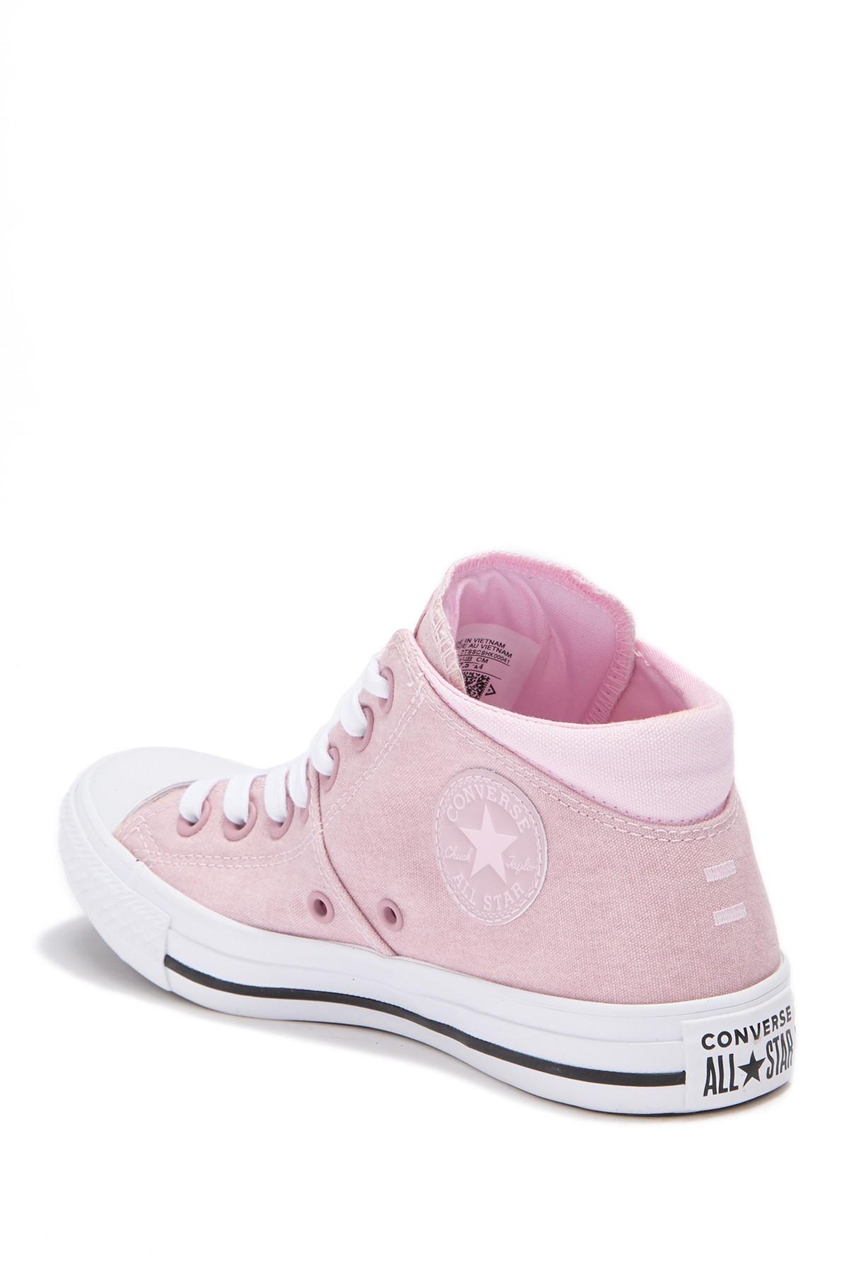 4b4d3035adac Converse - Pink Chuck Taylor All Star Madison Mid Top Sneaker (women) -  Lyst. View fullscreen