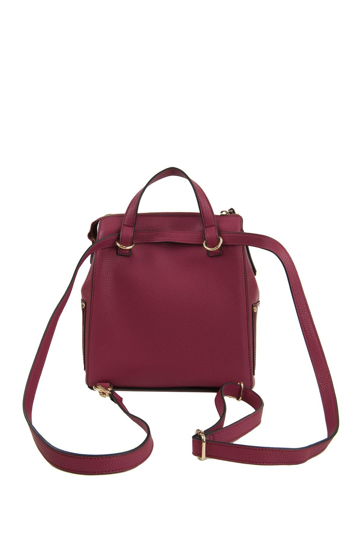 7bb4a96d9d9 Perlina Red Judi Leather Convertible Backpack