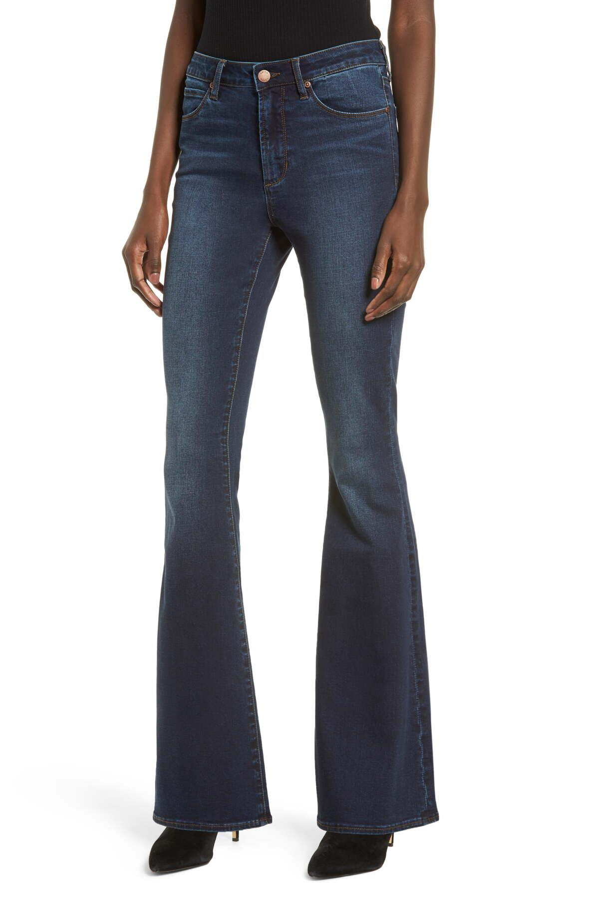 862aa0506 Leith High Waist Flare Jeans in Blue - Lyst