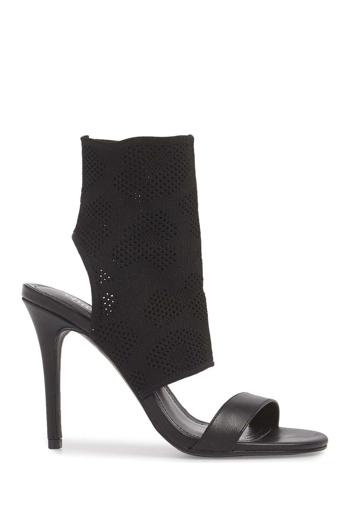 3019d359e36 Lyst - Charles David Remote Knit Sandal in Black