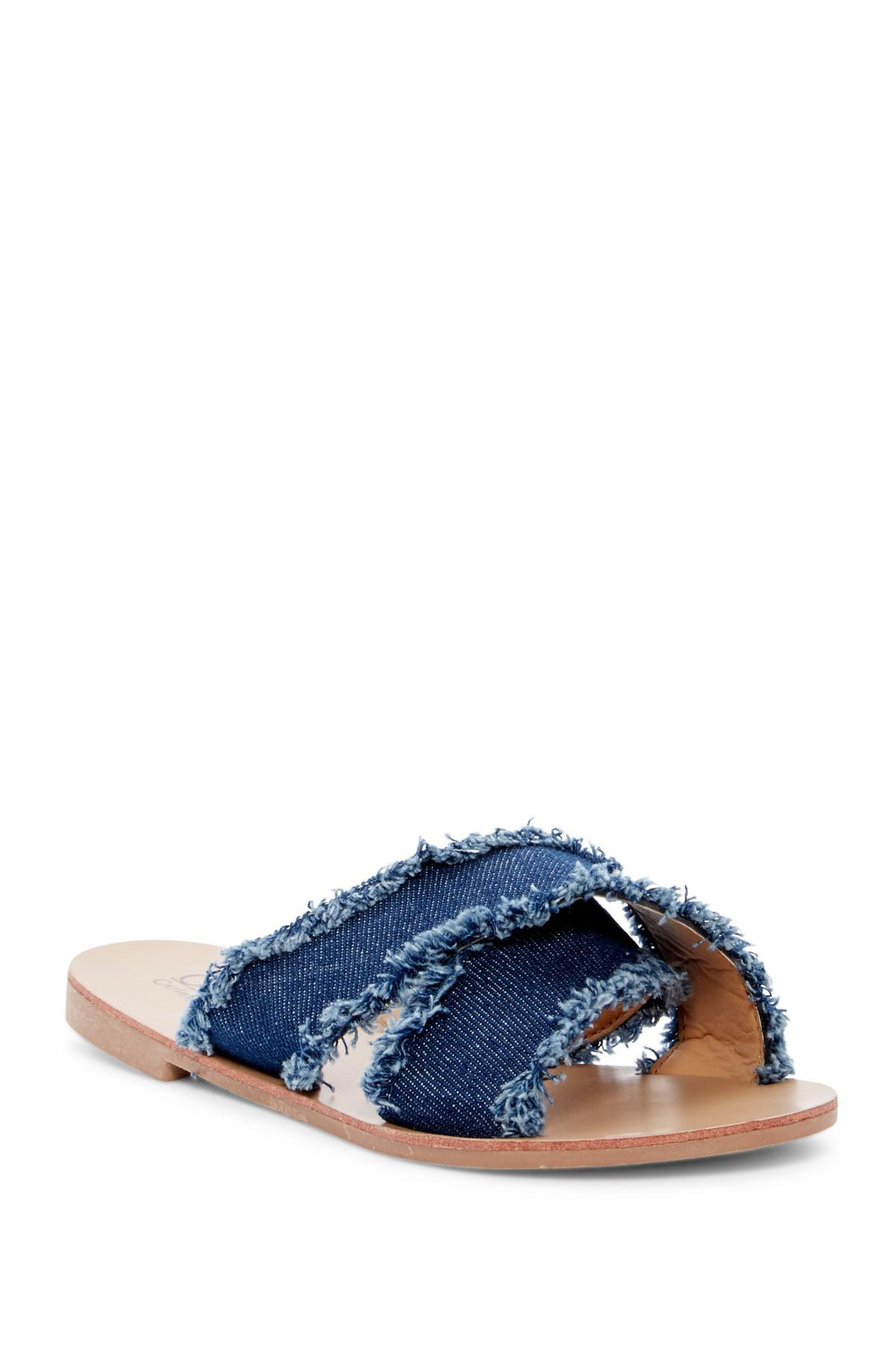 Lyst Catherine Malandrino Crissy Denim Sandal In Blue