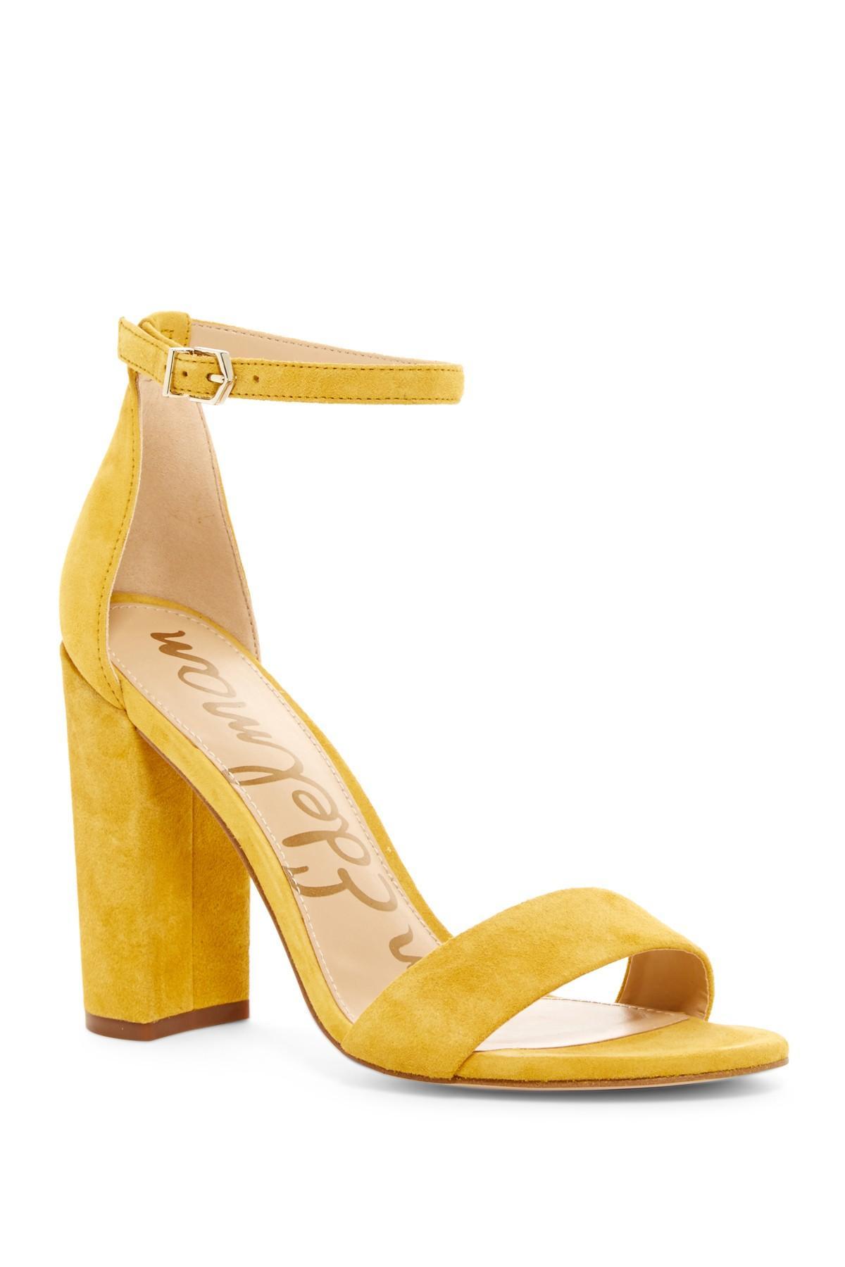 c3f20334ce64 Lyst - Sam Edelman Yaro Heel in Yellow
