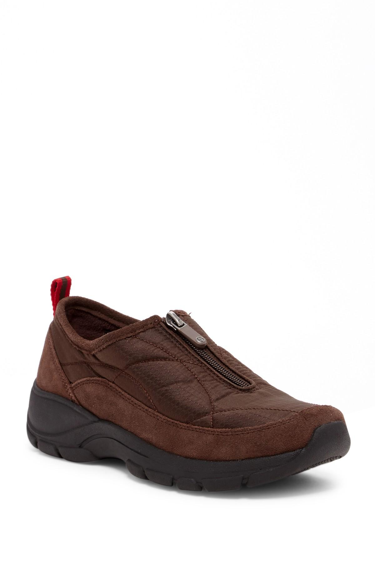 Lyst Lands End All Weather Zip Shoe In Brown For Men