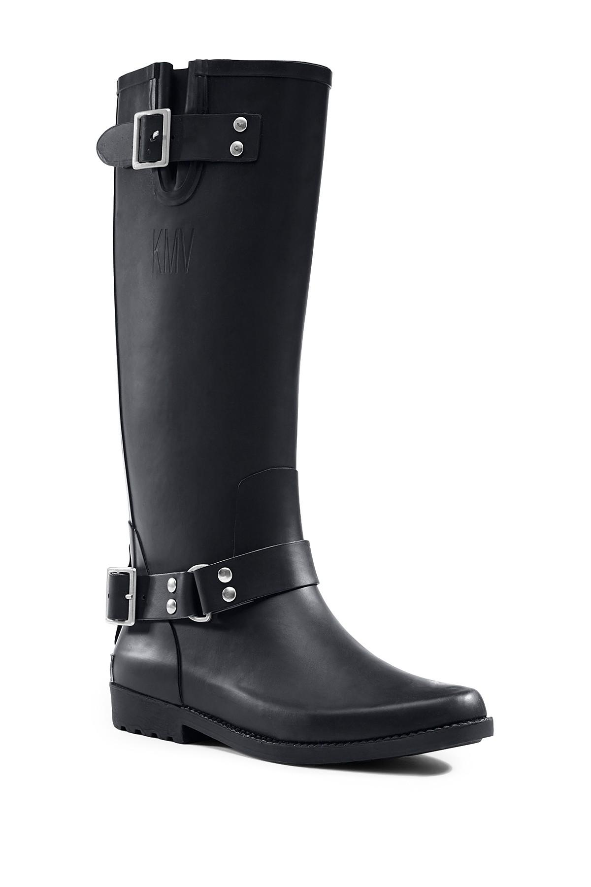 Lyst Lands End Tall Rain Boot In Black