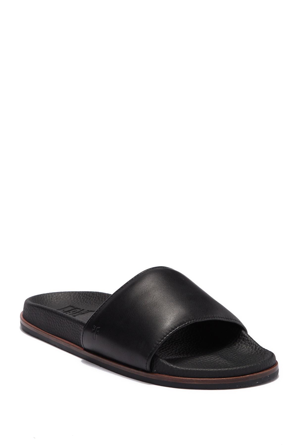 e2961ab3148 Lyst - Frye Emerson Slide Sandal in Black for Men - Save 76%