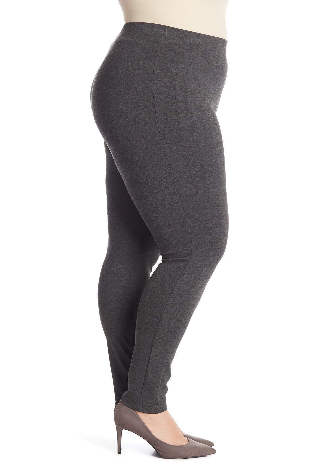 055fe9fa4544c3 Lyst - Philosophy Apparel Solid Ponte Leggings (plus Size) in Gray