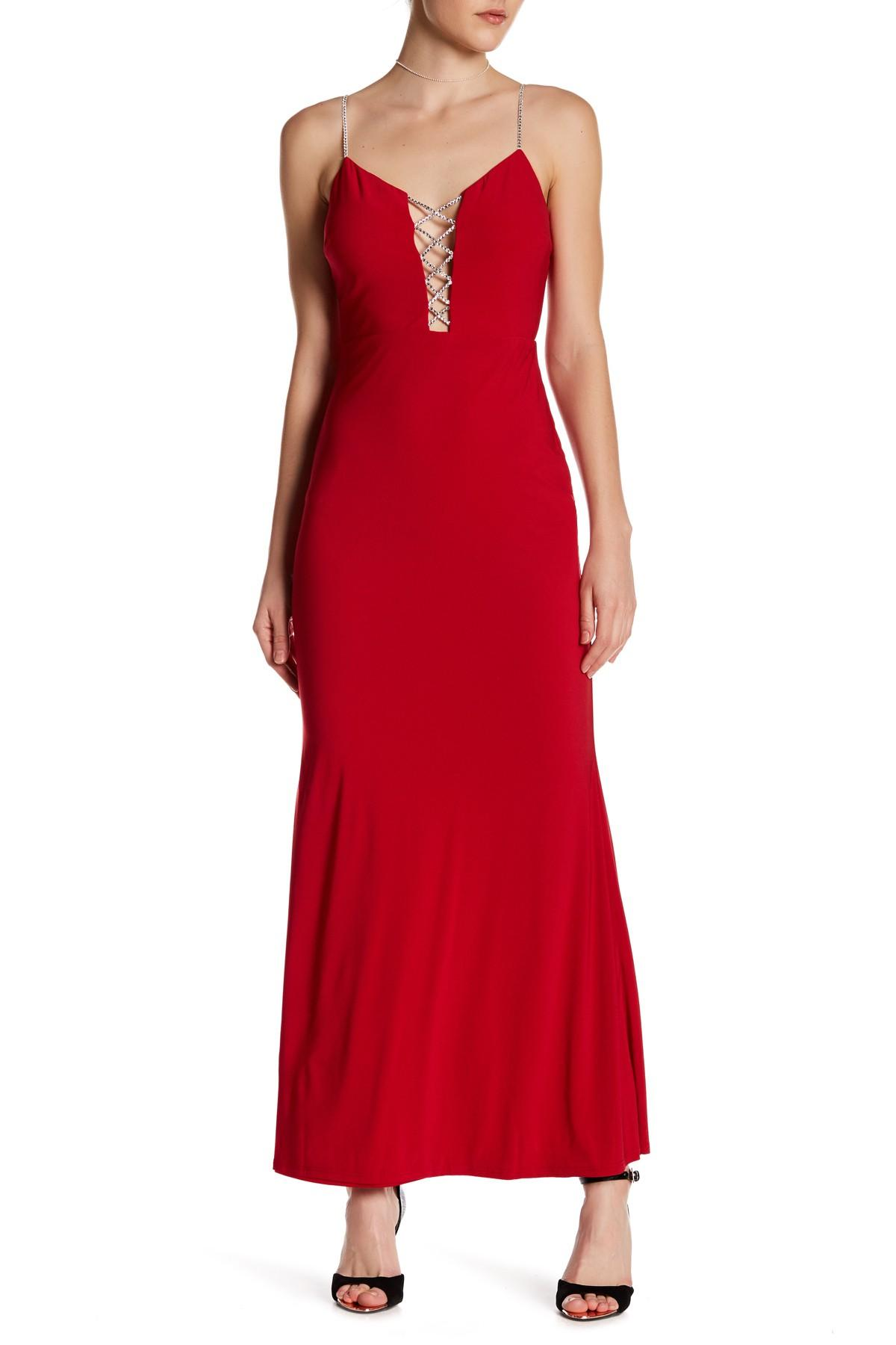 Jump embellished detail gown in red lyst for Nordstrom rack dresses pour mariage
