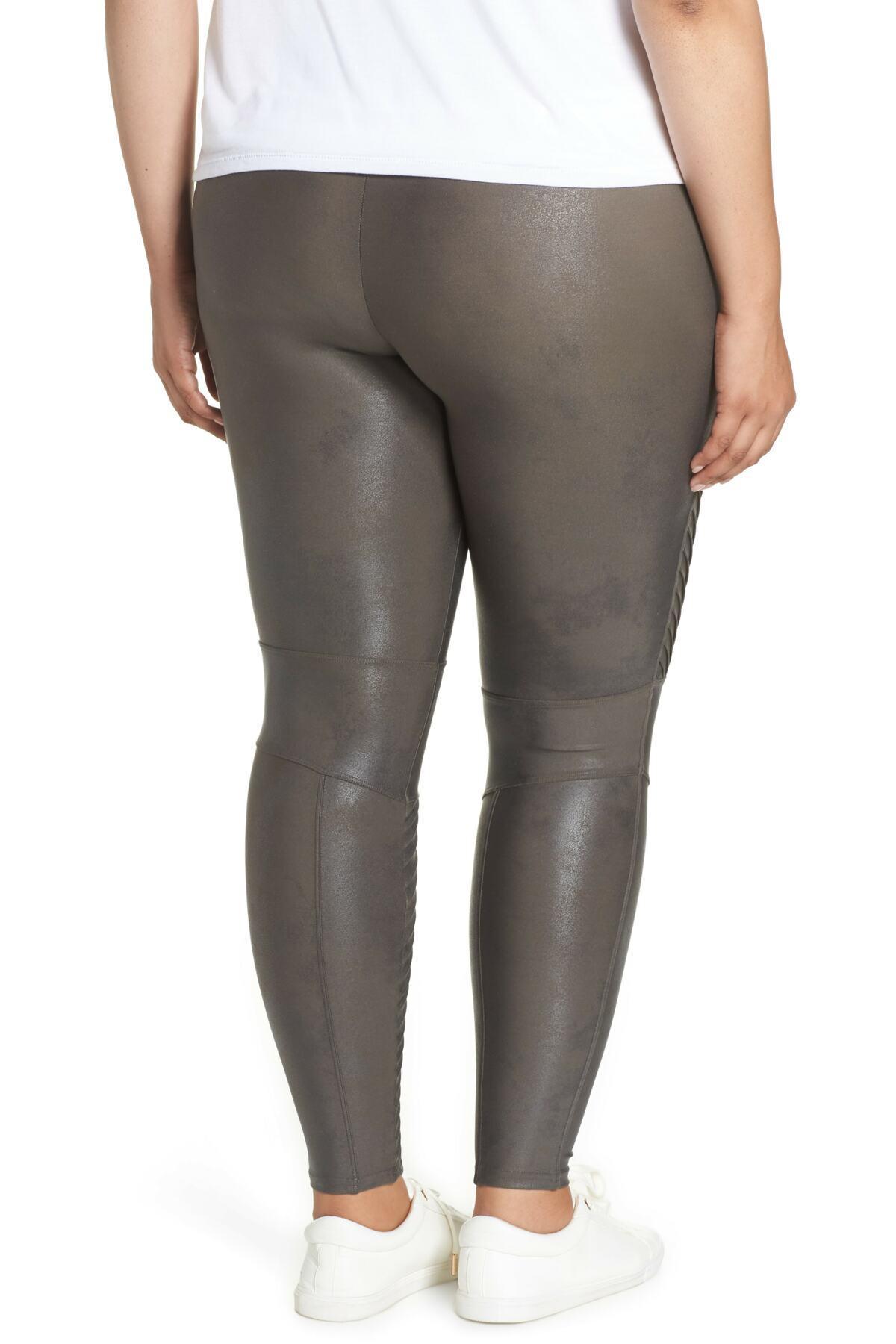 923ef08a48072 Spanx - Gray High Waist Moto Leggings (plus Size) - Lyst. View fullscreen