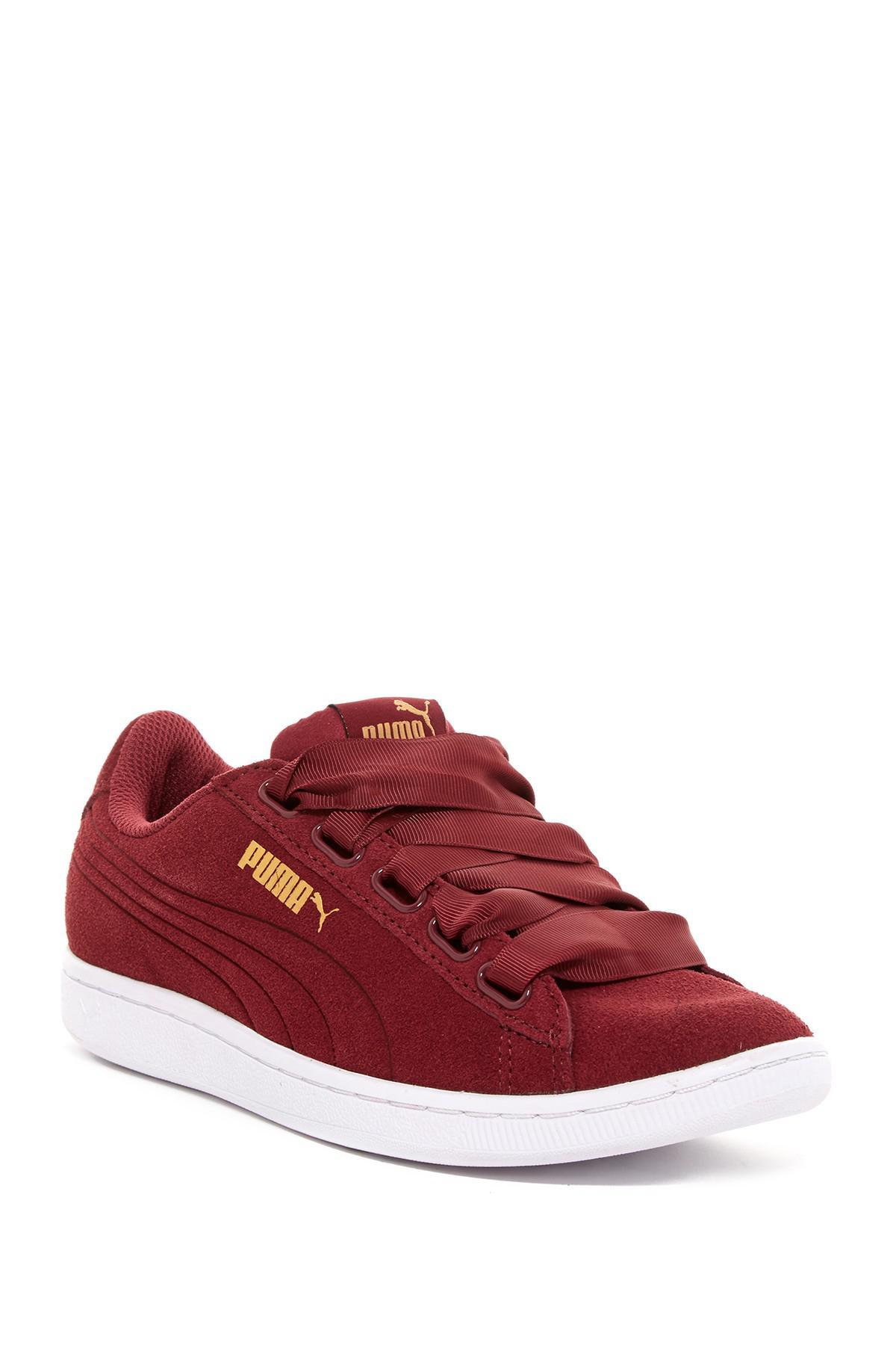 0afe29b3710 Lyst - Puma Vikky Ribbon Sneaker in Red Puma Vikky Platform Ribbon White ...