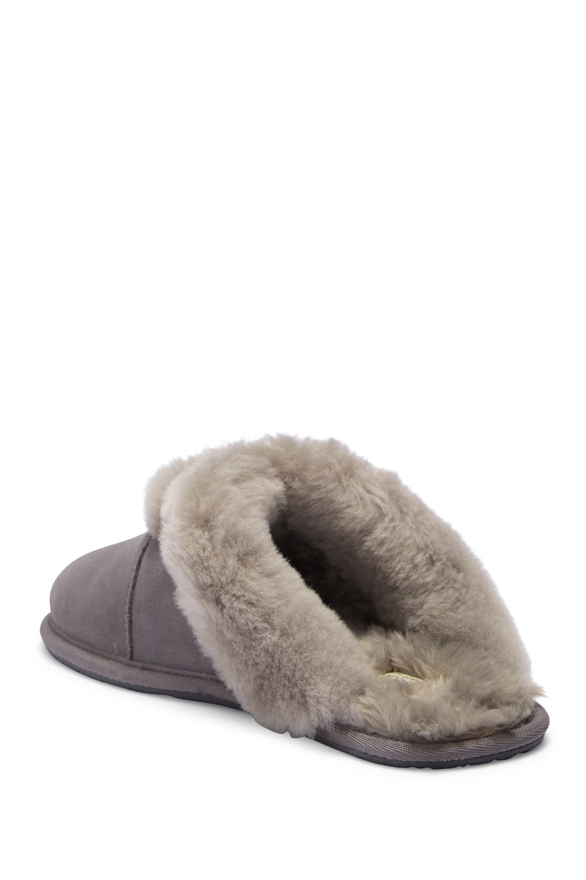 490e61c84b2 UGG Milo Genuine Shearling & Faux Fur Trimmed Scuff Slipper in Gray ...
