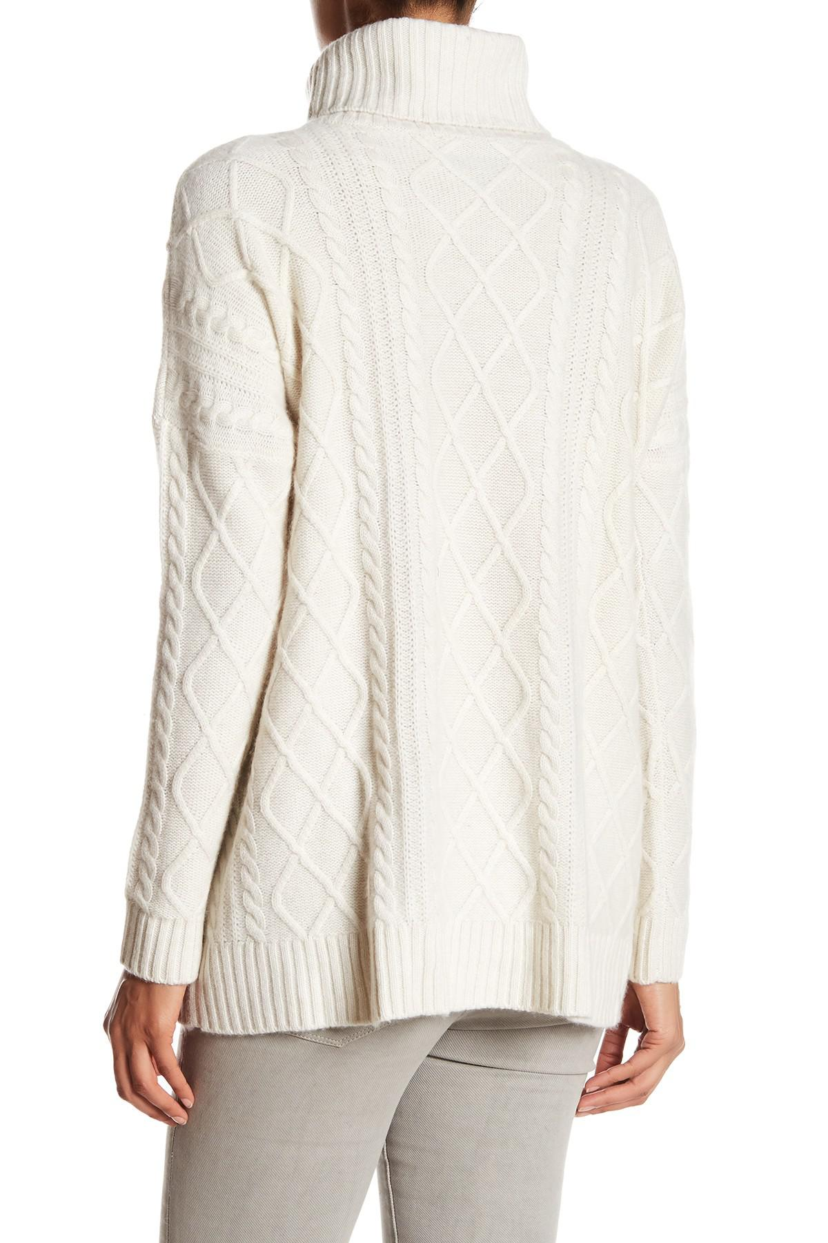 Philosophy cashmere Heavy Cable Fisherman Cashmere Sweater   Lyst