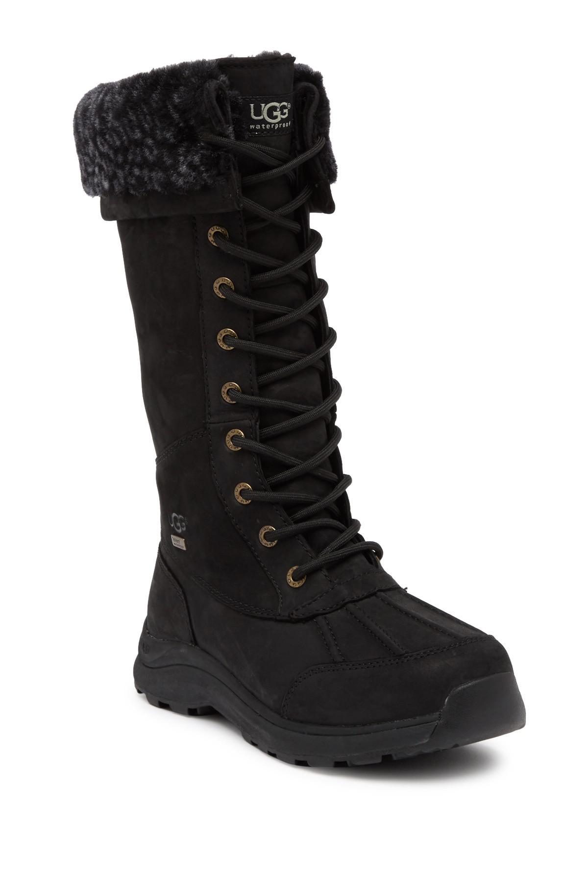 Ugg Adirondack Iii Tall Leopard Waterproof Suede Boot In