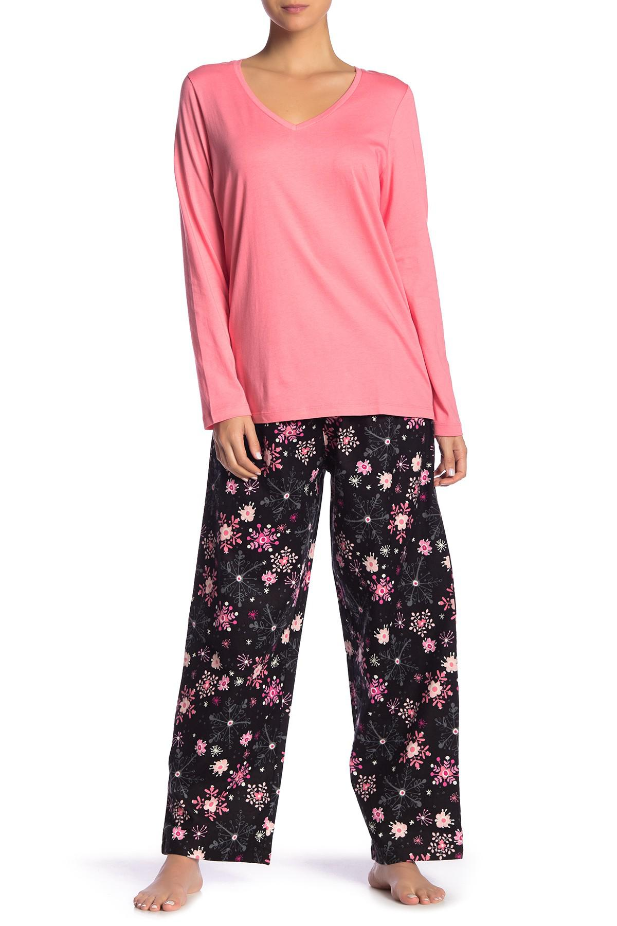 Hue. Women s Crystal Flowers 2-piece Pajama Set 394780613