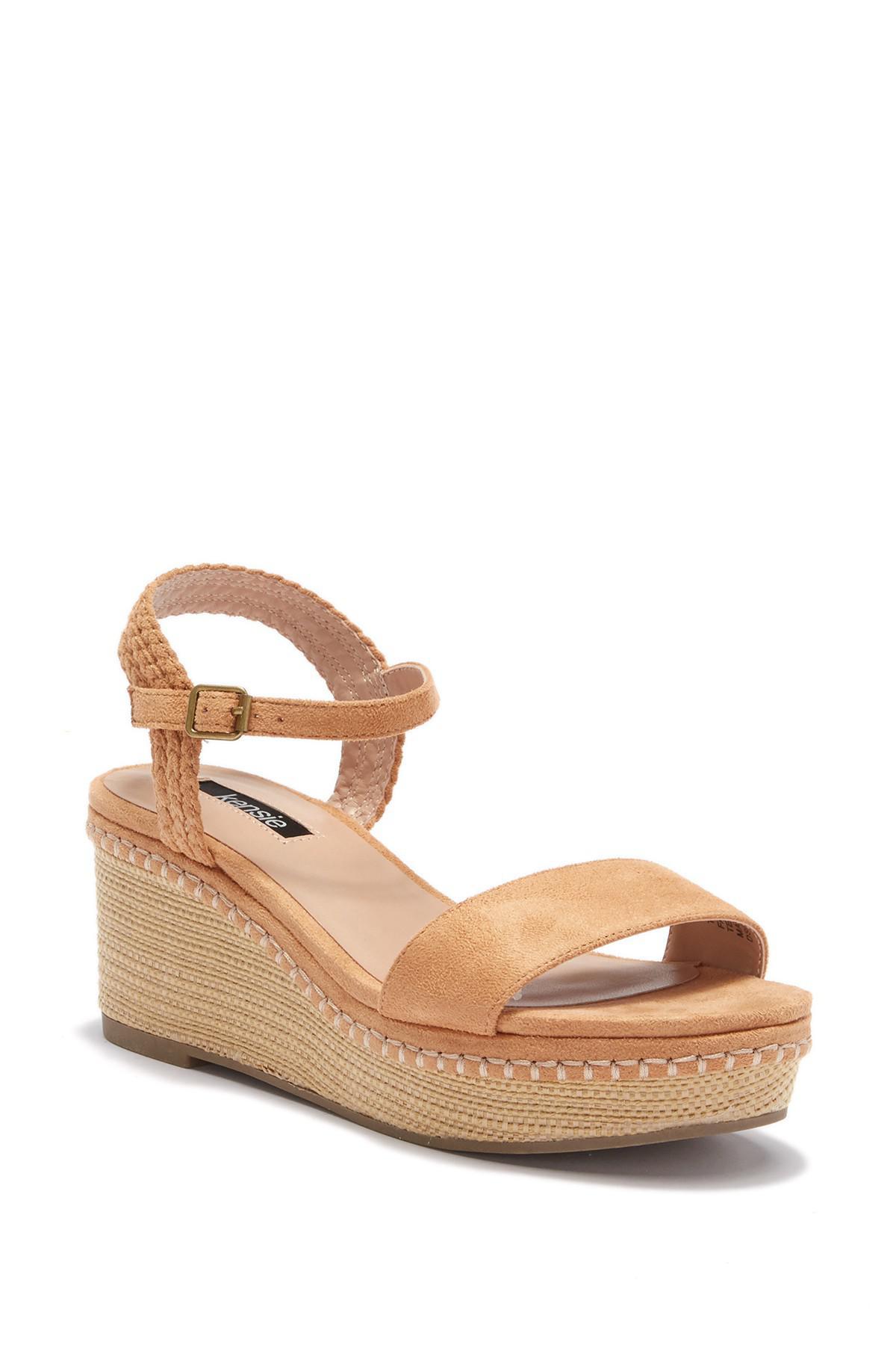 Kensie Timothy Wedge Platform Sandal - Lyst