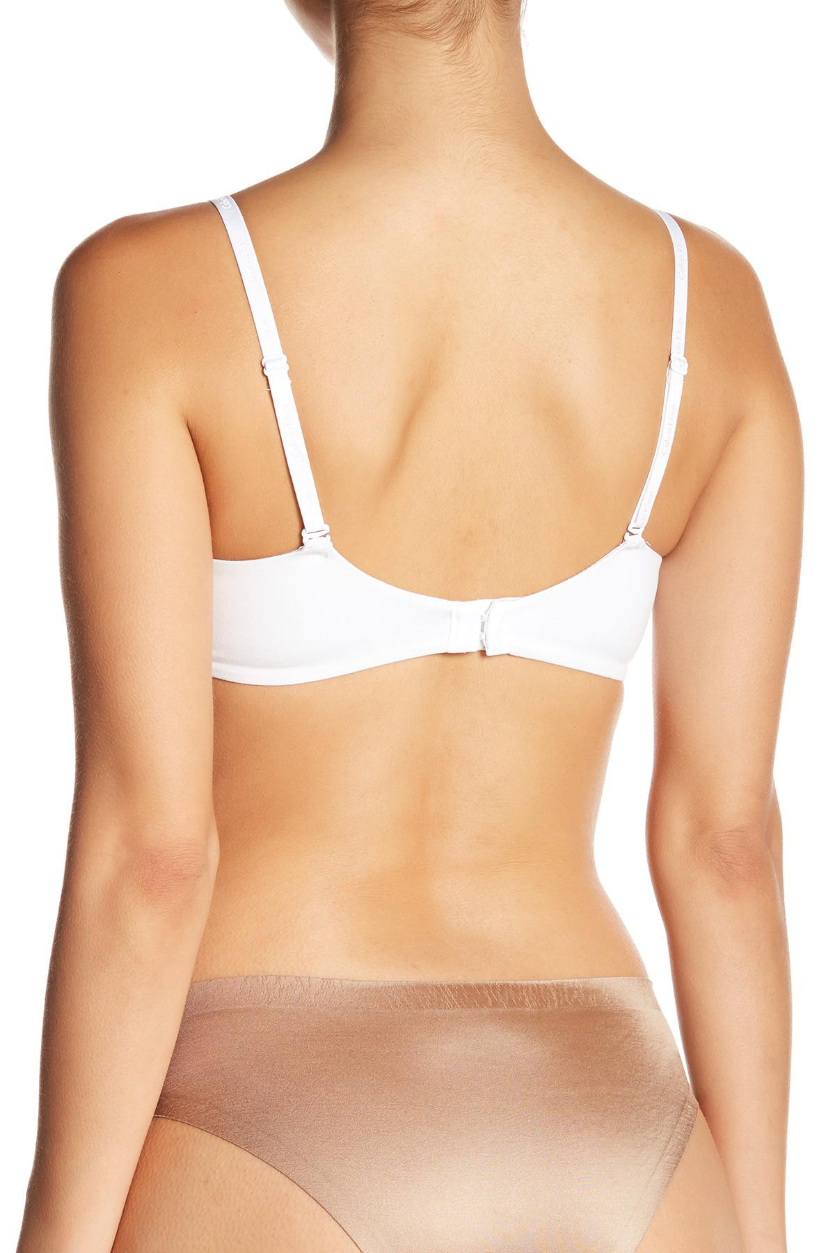 2b35f12b0b6e0 Calvin Klein - White Constant Plunge Push-up Bra - Lyst. View fullscreen