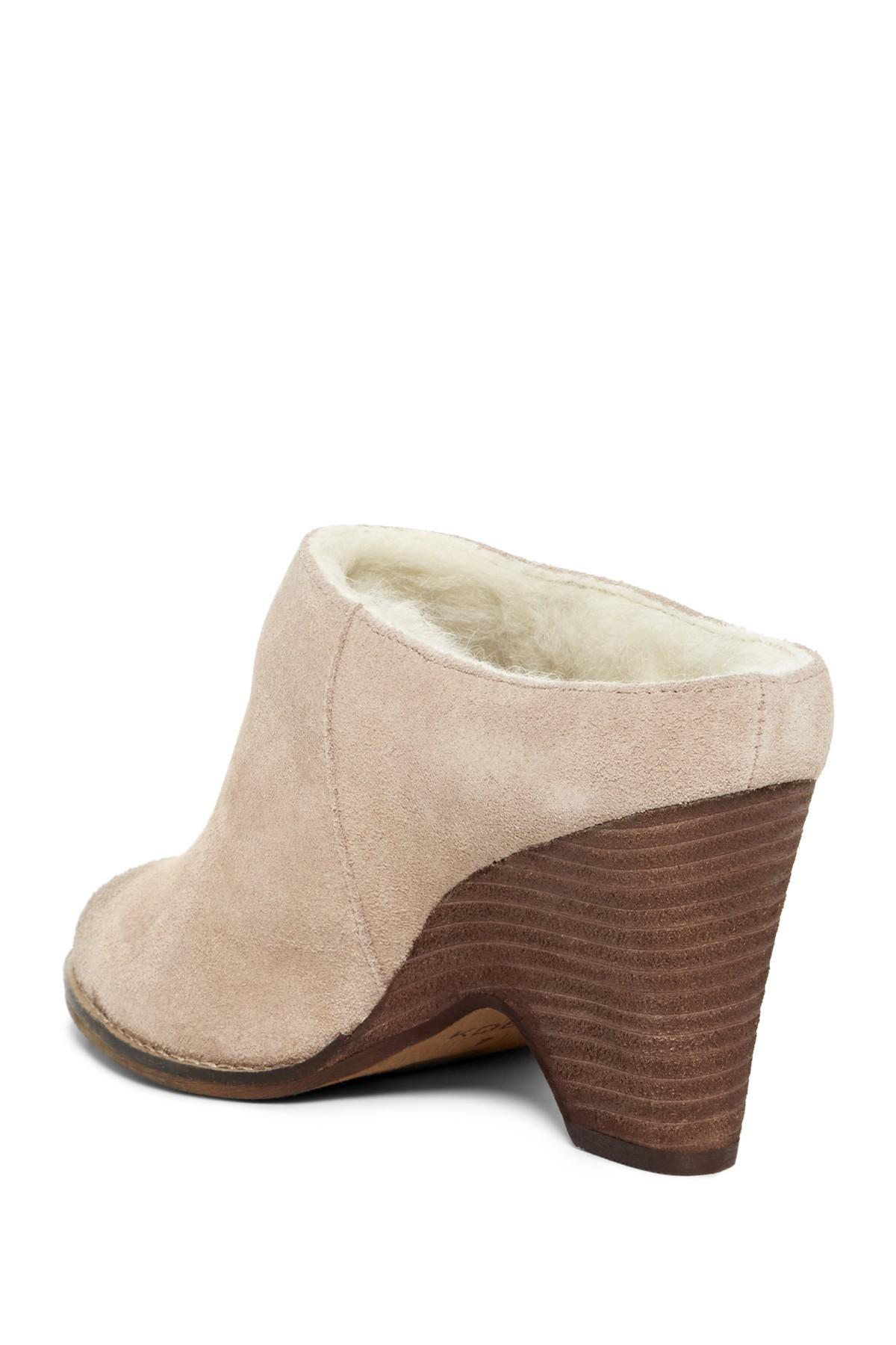 Kelsi Dagger Brooklyn Hocking Faux Sherling Lined Suede Mule rxfm3