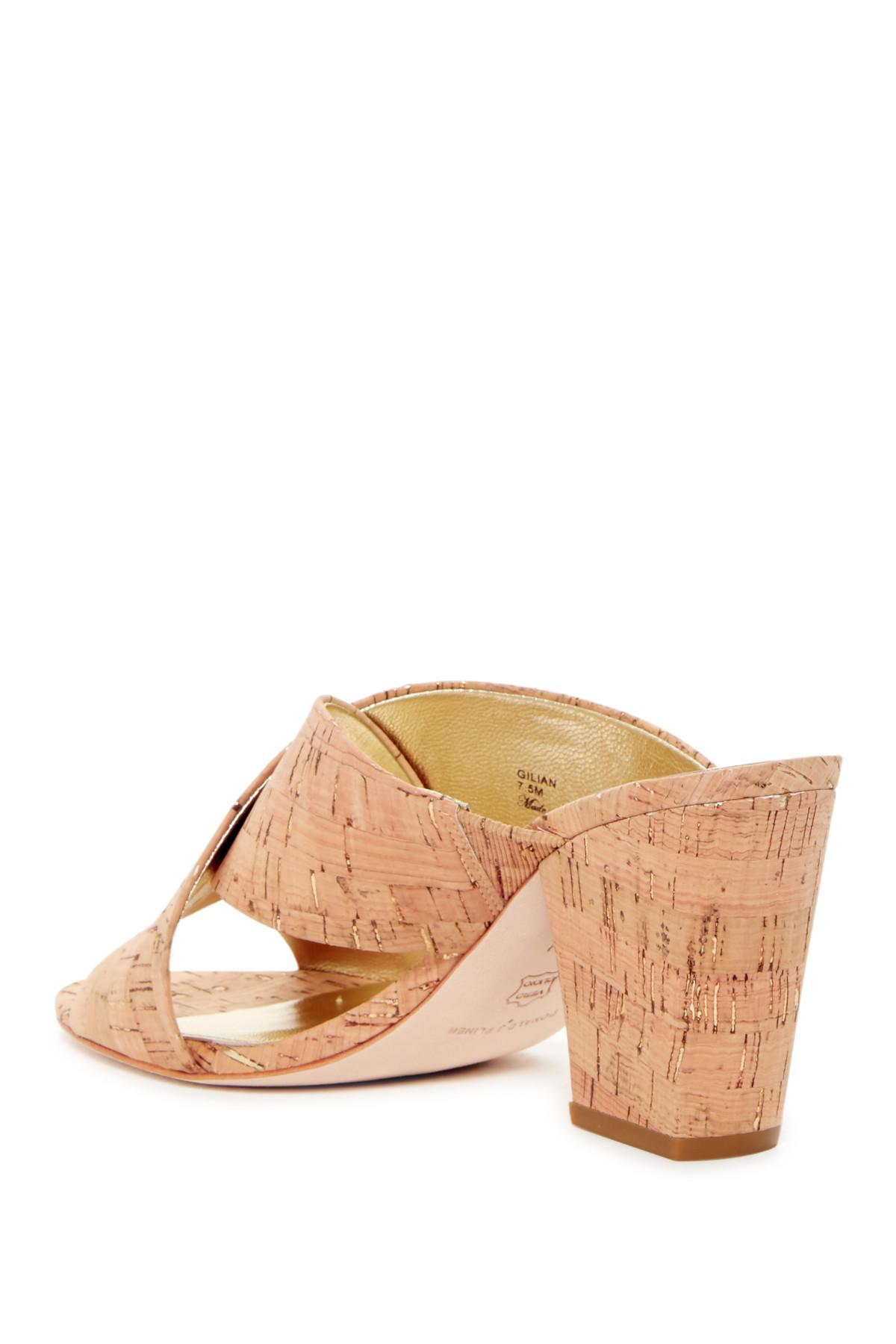 42aa56c5f48 Lyst donald pliner gilian cork slide sandal jpg 1200x1800 Donald pliner  slide sandals