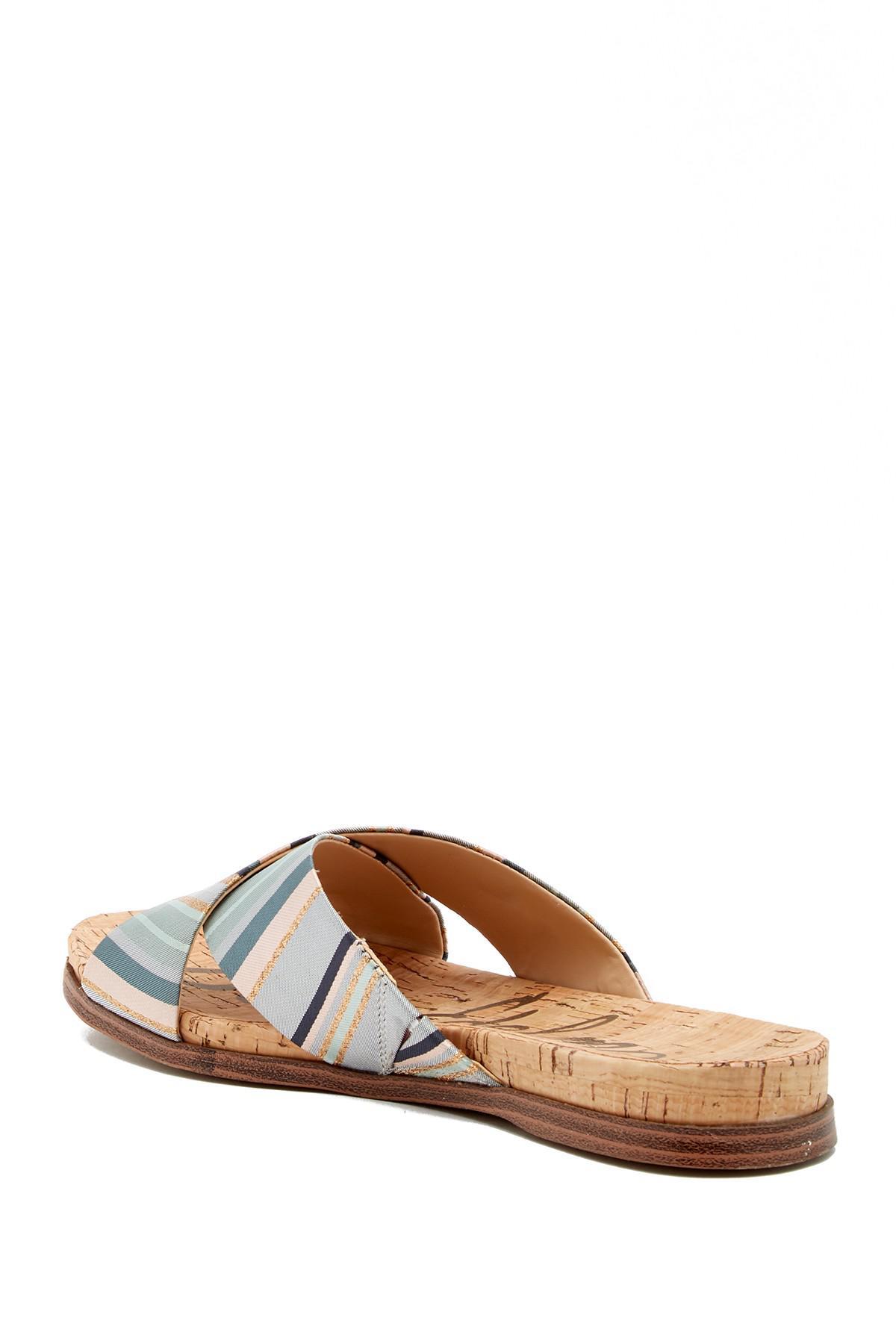 20ca282c2b65 Lyst - Sam Edelman Hattie Crisscross Slide Sandal