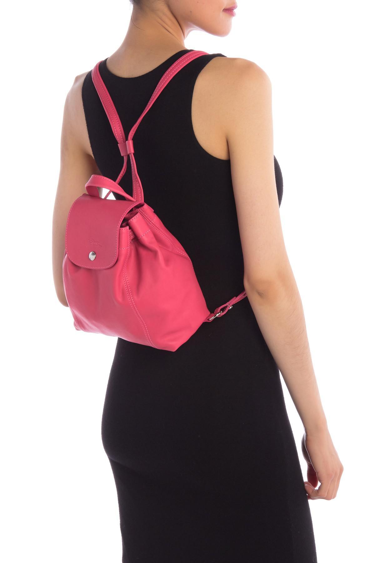 Le Pliage Mini Cr Leather Backpack