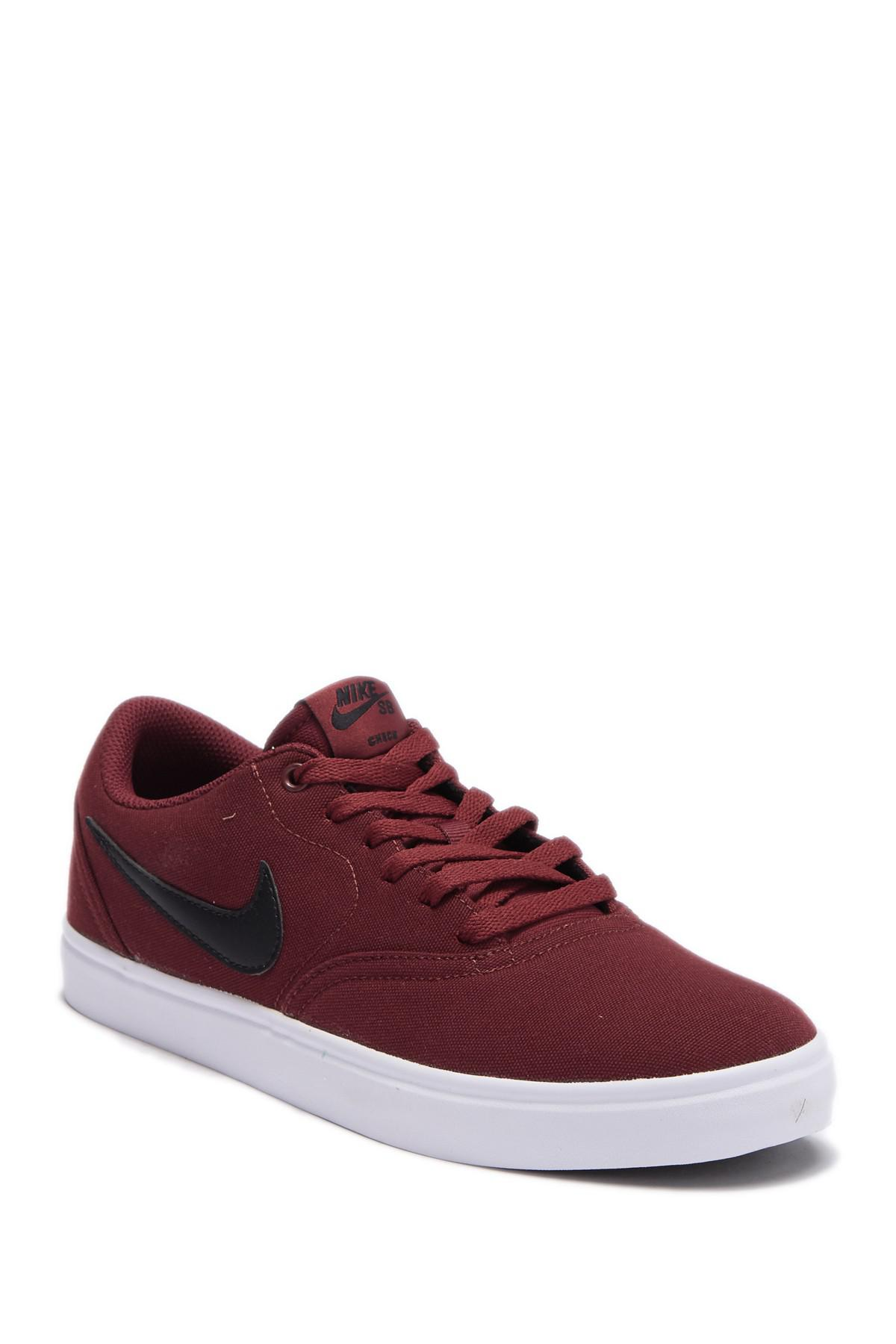 Nike Sb Check Solar Canvas Skate Shoes in Red for Men - Lyst