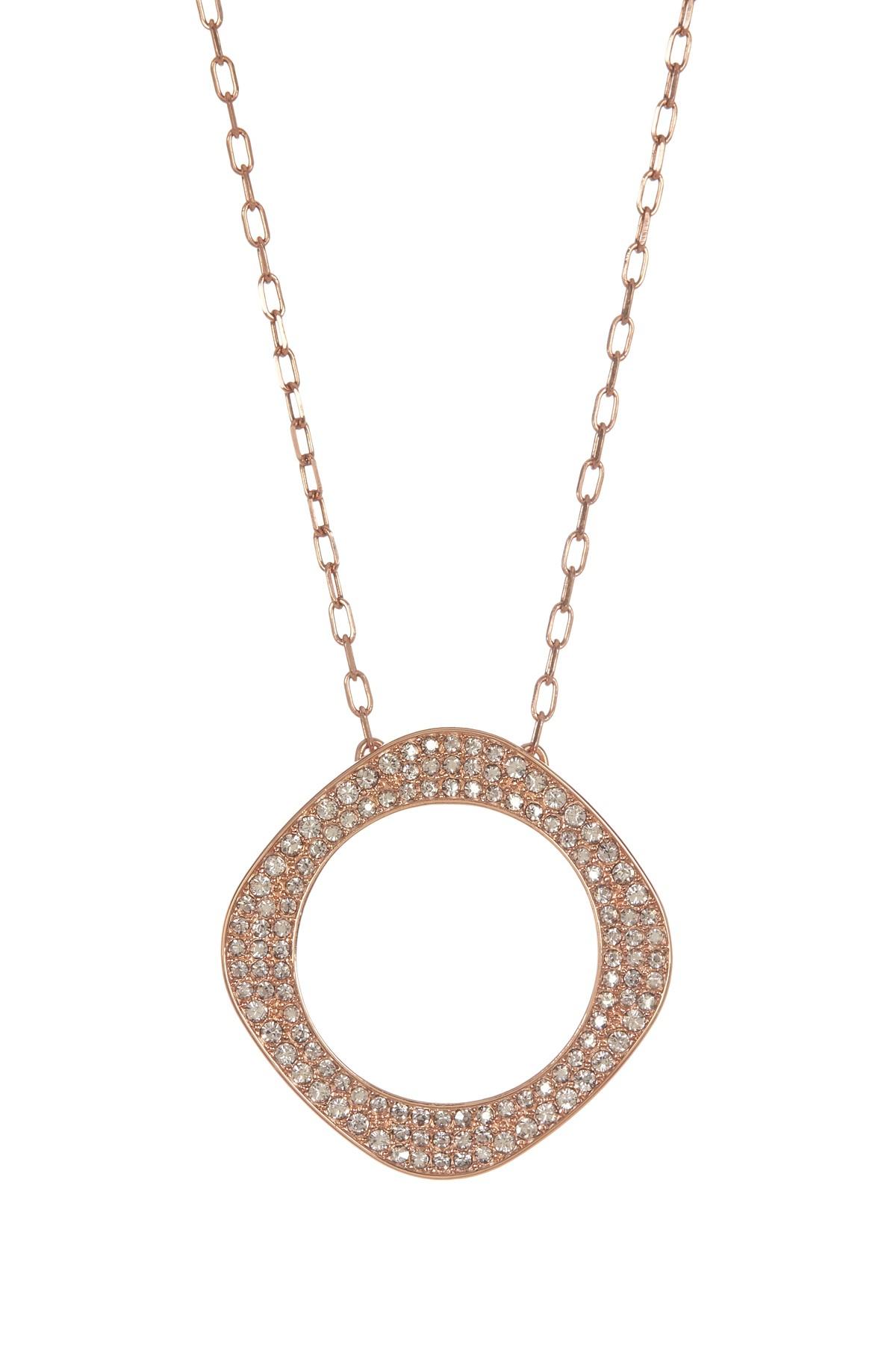 Lyst swarovski 18k rose gold plated vio crystal pendant for Swarovski jewelry online store