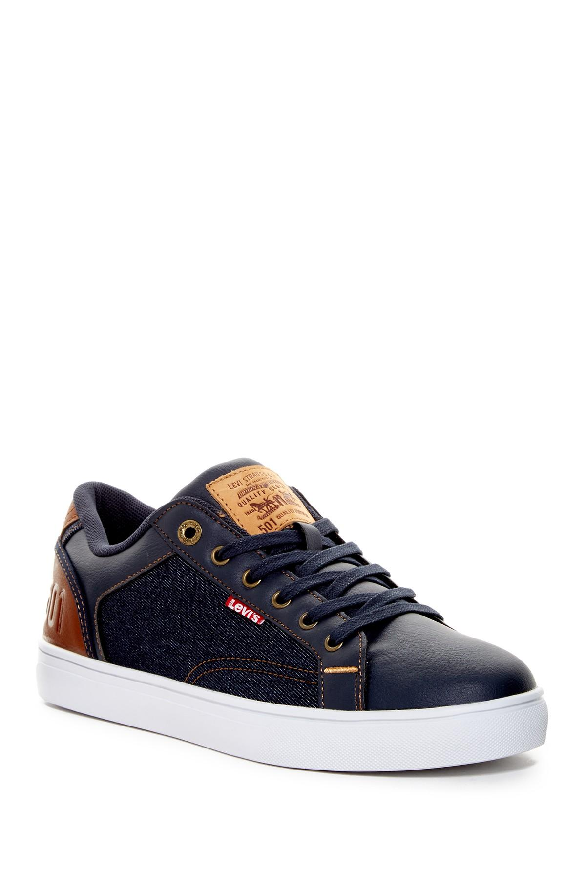 Jeffrey 501 Denim Sneaker in Navy-Tan