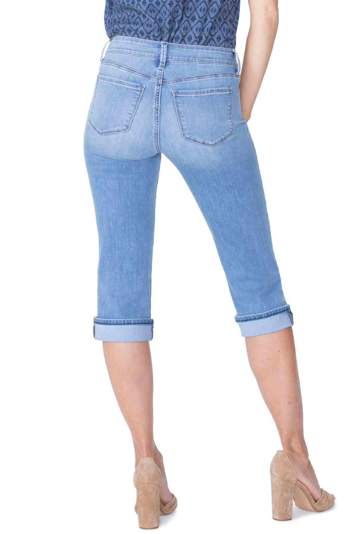35344dec730 NYDJ - Blue Marilyn High Waist Cuffed Stretch Crop Jeans - Lyst. View  fullscreen