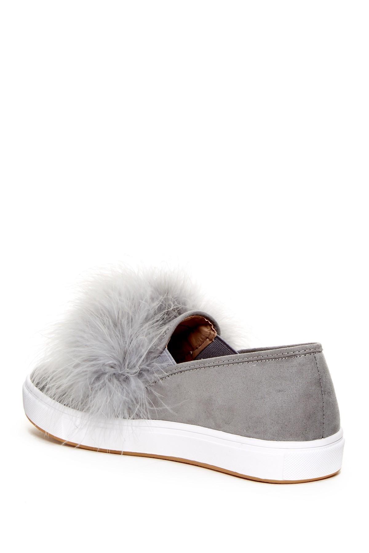4172383bbc3 Steve Madden Gray Emily Faux Fur Slip-on Sneaker