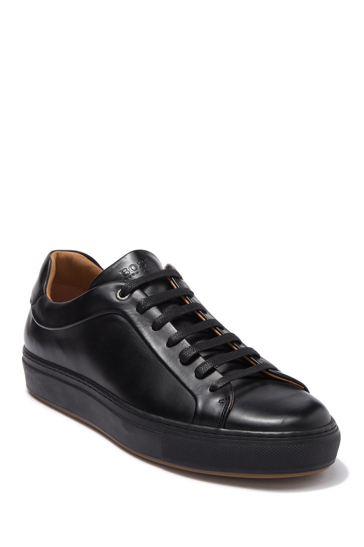 Hugo Boss Mirage Tennis Leather Sneaker