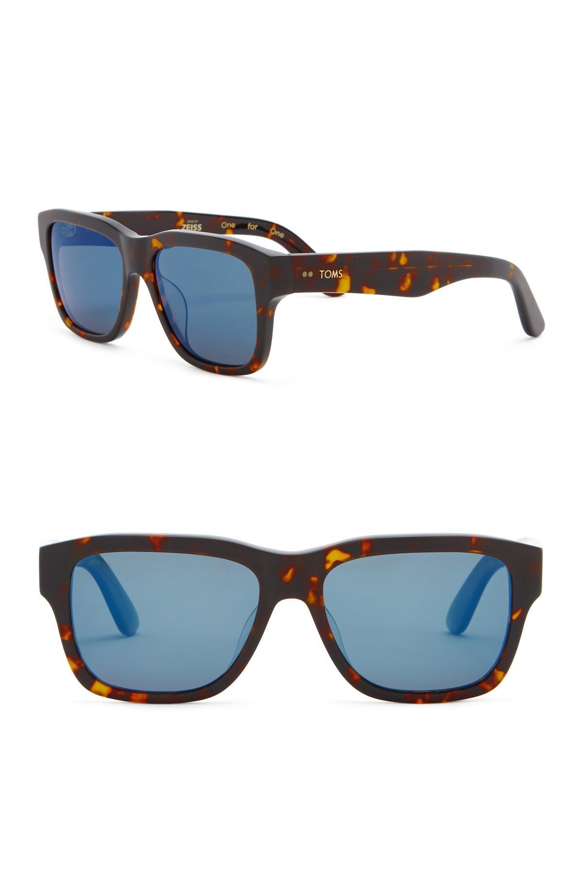 2e4cdac954 Lyst - TOMS 57mm Culver Matte Whiskey Tortoise Polarized Sunglasses ...