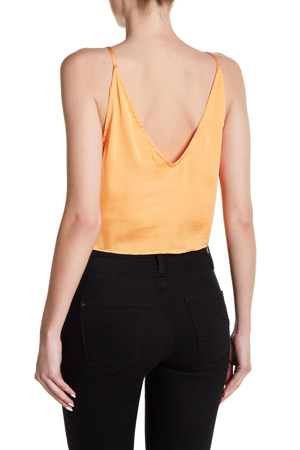0b9829707e6 Lyst - Free People Two Tie For You Cami in Orange