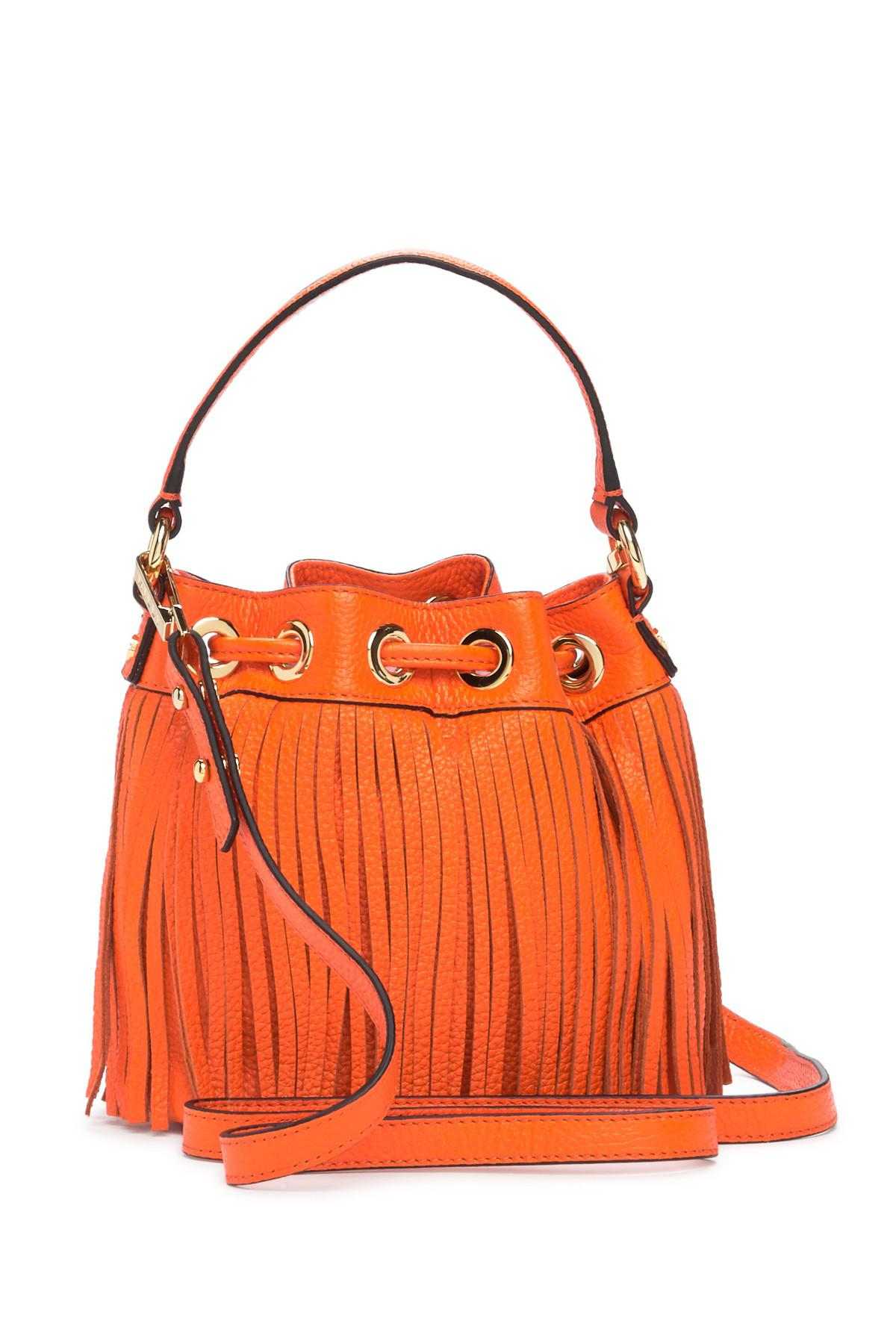 Small Drawstring Leather Handbag Lyst View Fullscreen