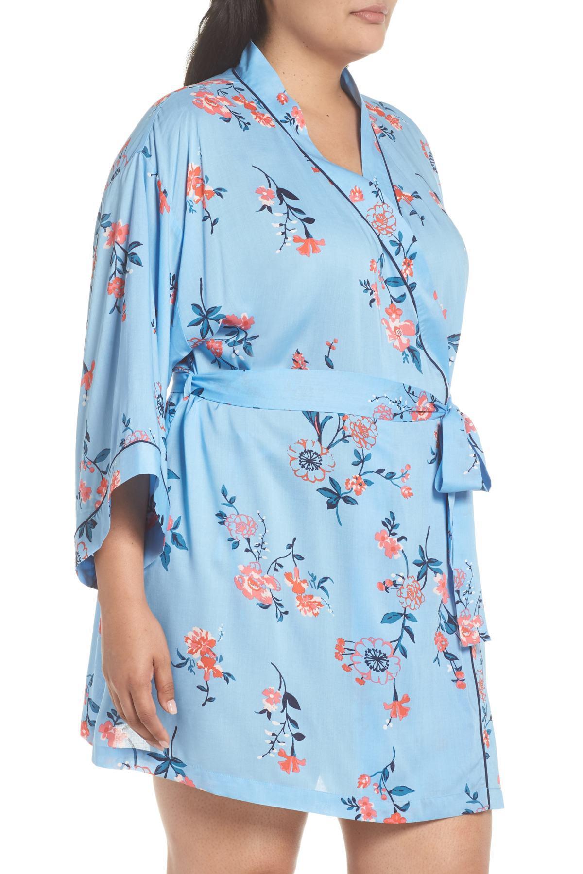 4e346fe9e Lyst - Nordstrom Sweet Dreams Woven Robe (plus Size) in Blue