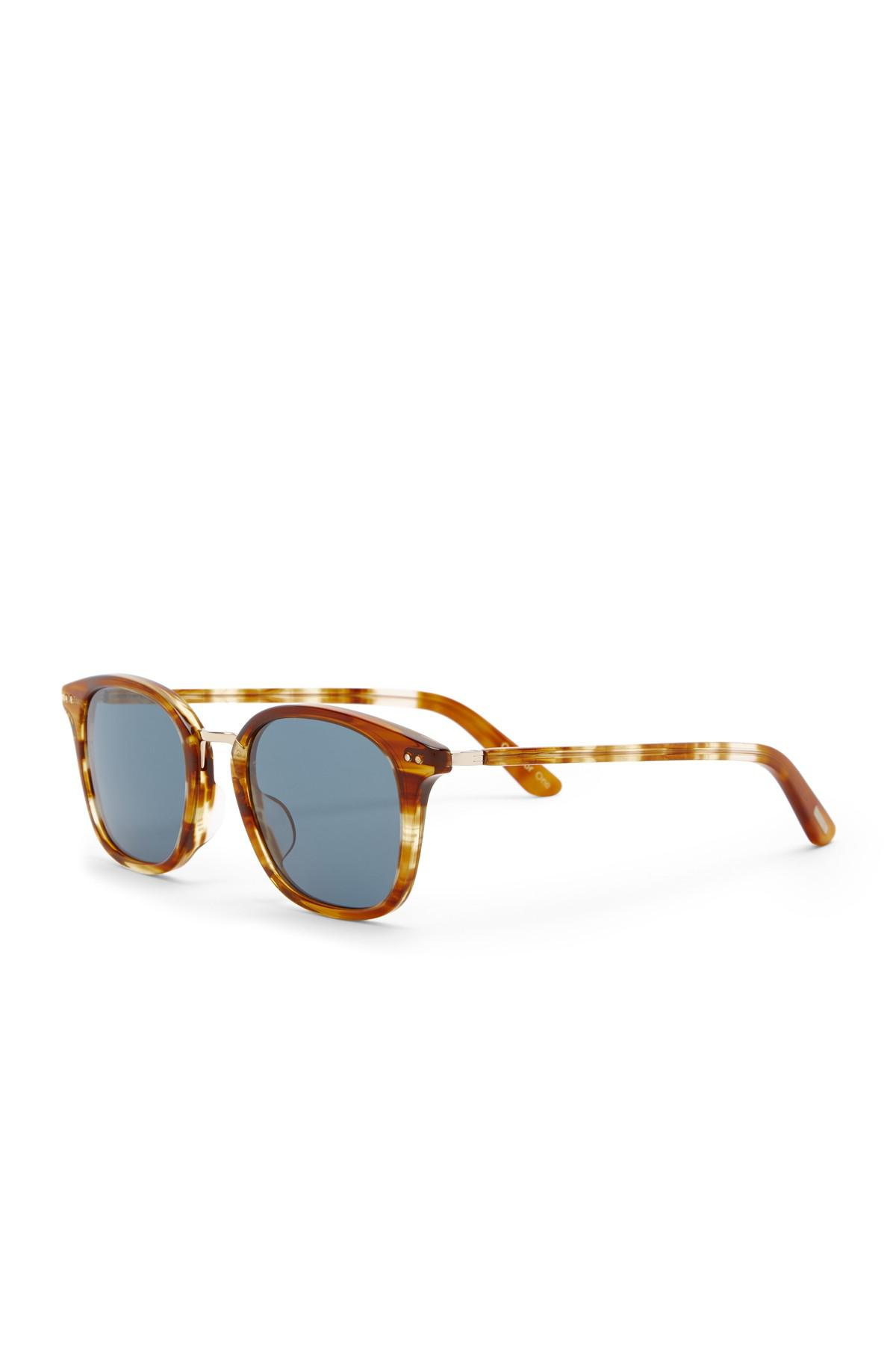 87d53c194a Lyst - Toms 50mm Barron Amber Ale Sunglasses in Blue