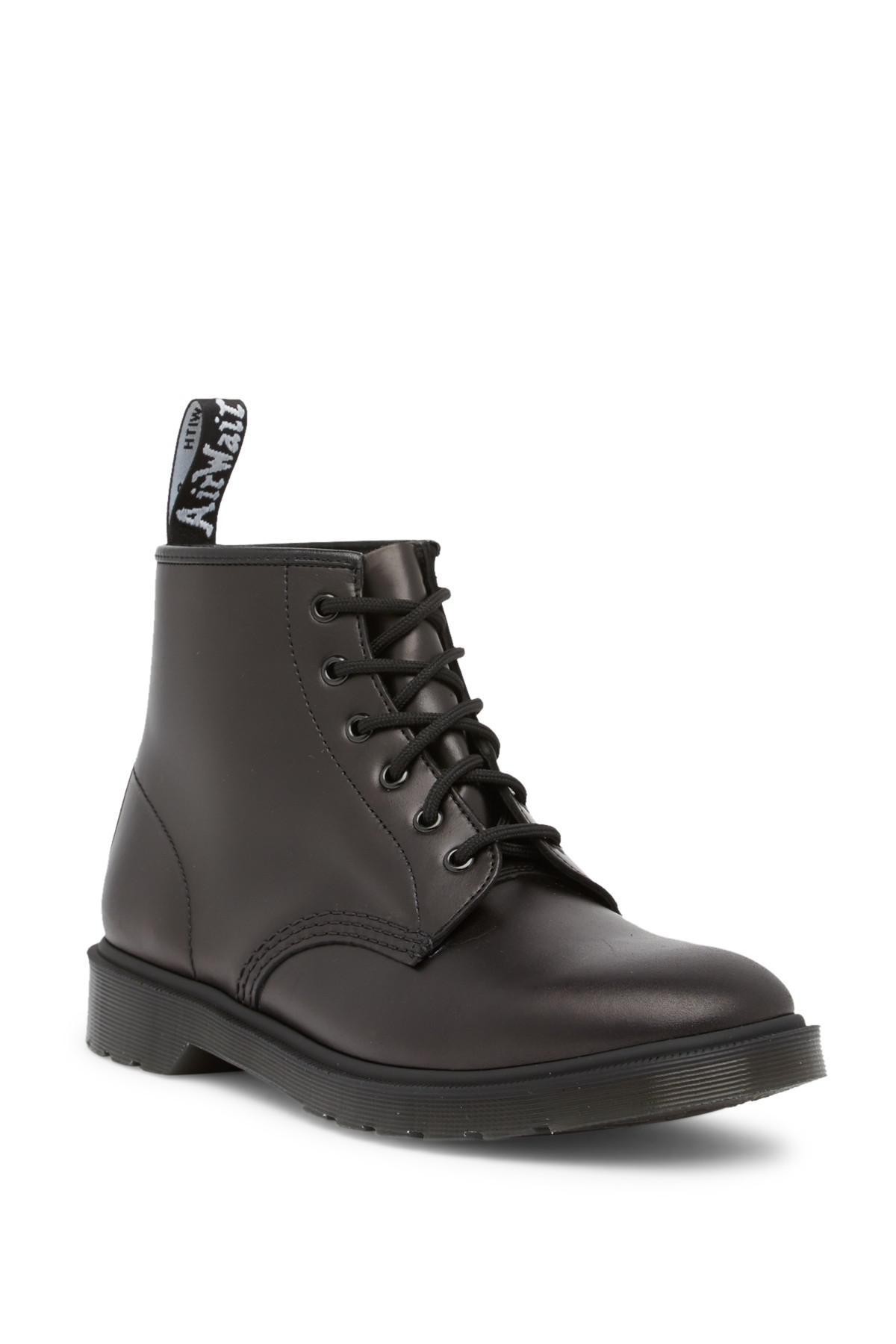 08935183179 Dr. Martens Black 101 Brando 6-eye Leather Boot for men