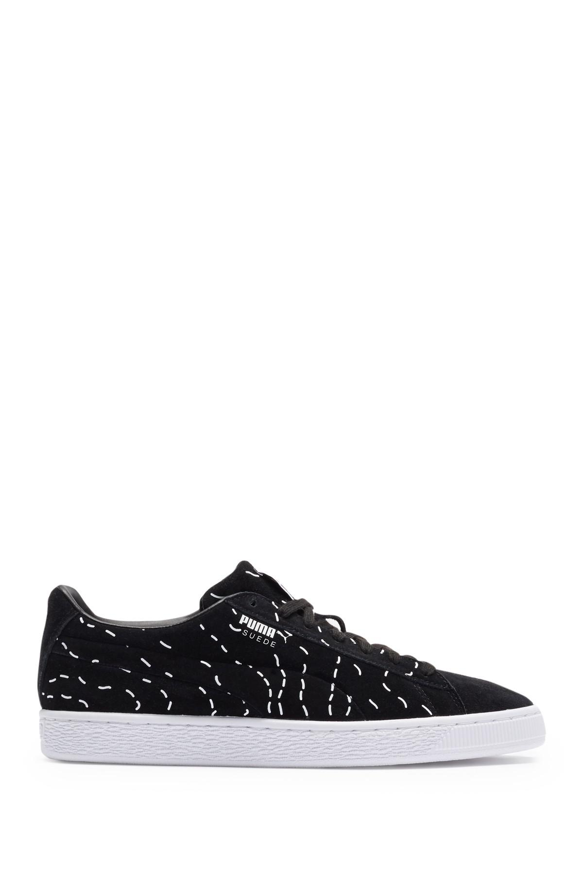 PUMA Suede Sm Sneaker in Black for Men
