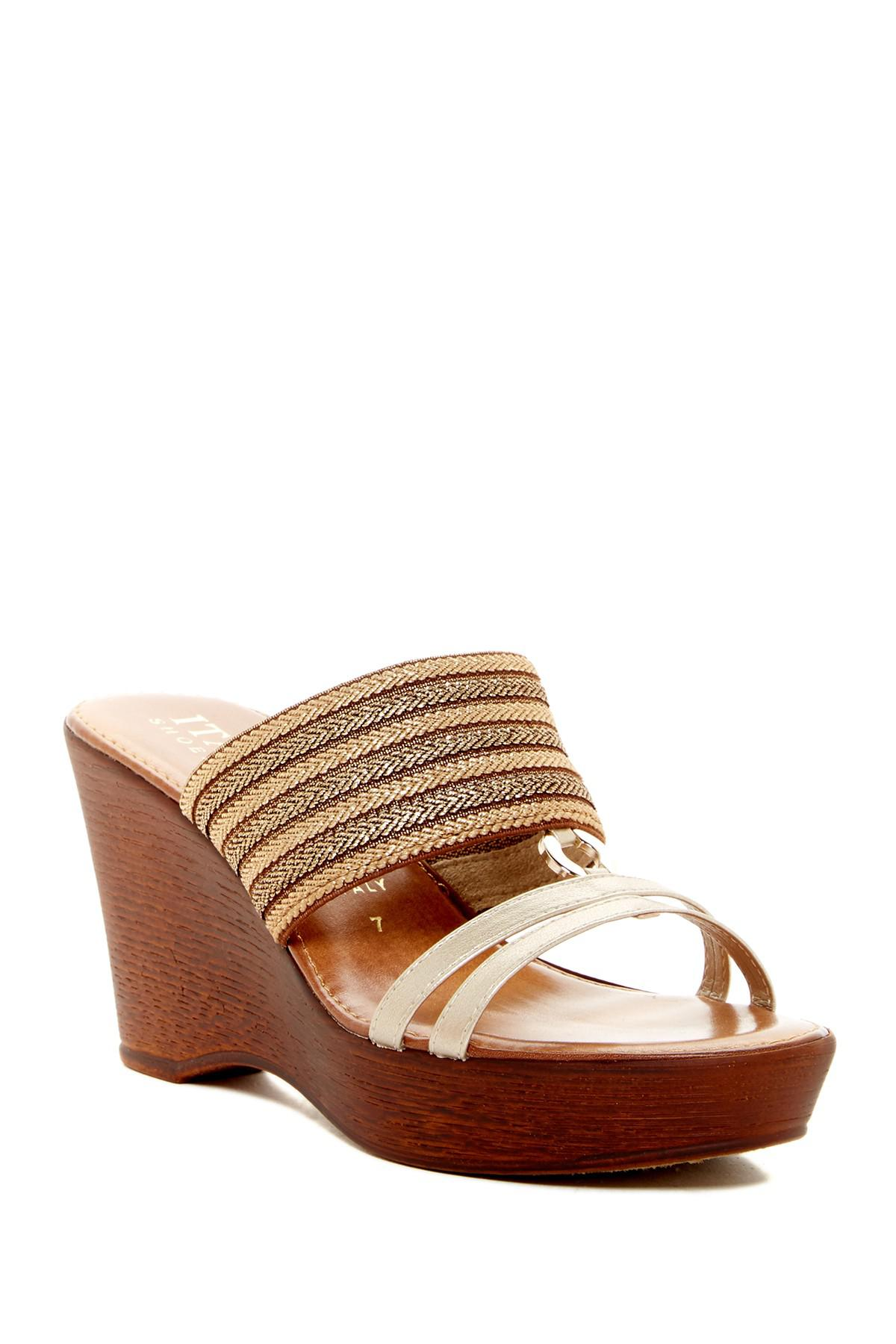 b1ad729ab00768 Italian Shoemakers Tinley Mule Sandal in Brown - Lyst
